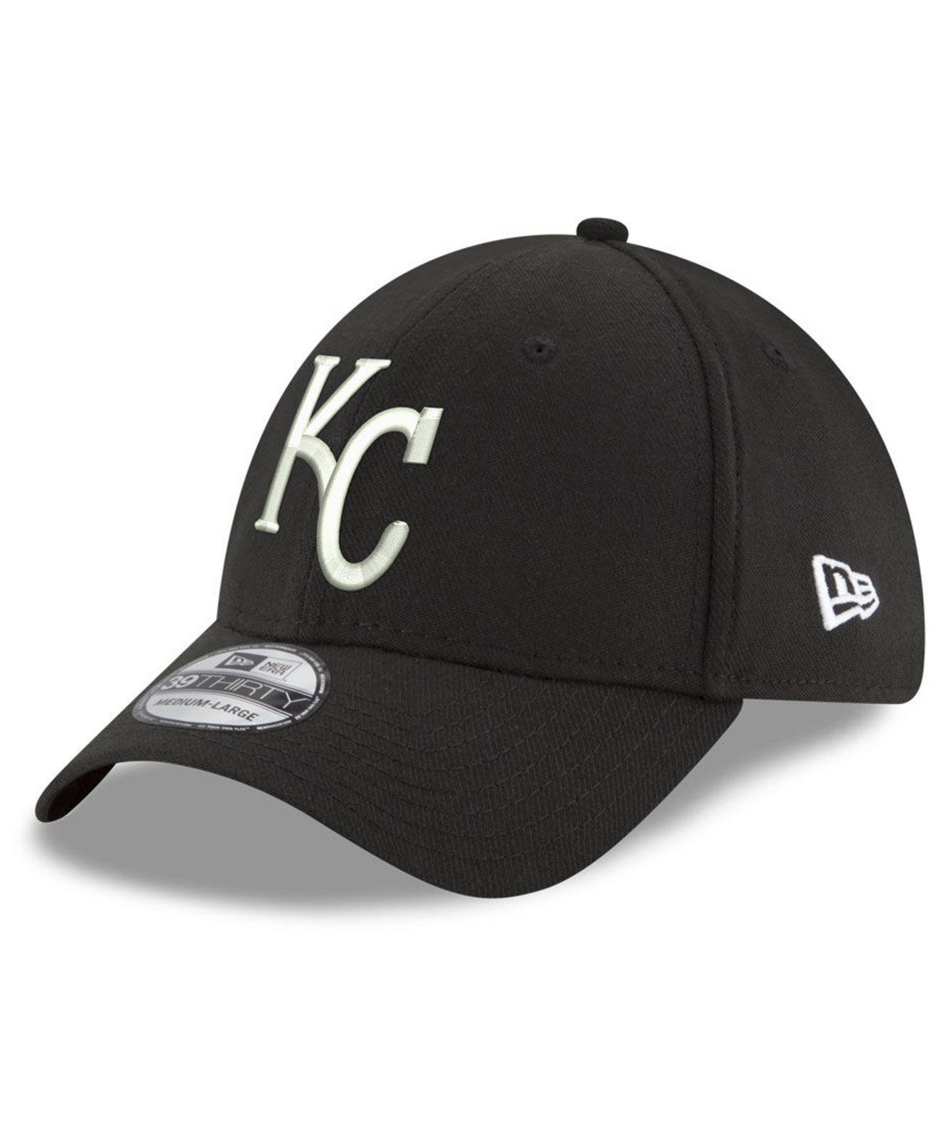 huge discount d7cbc ab89c order ktz. mens black kansas city royals dub classic 39thirty cap dec00  7525f