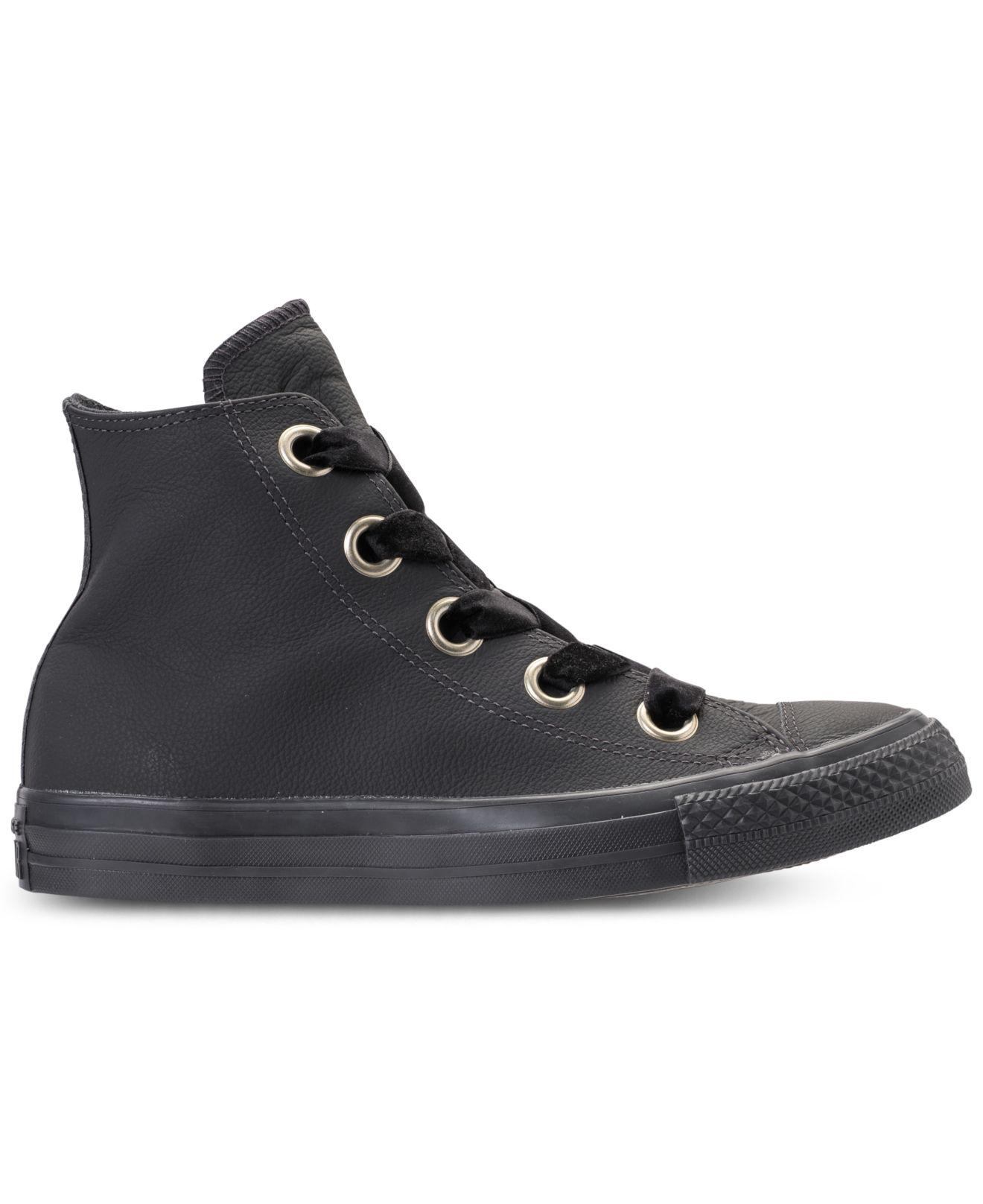 cd809c134e5f Lyst - Converse Chuck Taylor Big Eyelets High Top Casual Sneakers From  Finish Line in Black - Save 40%