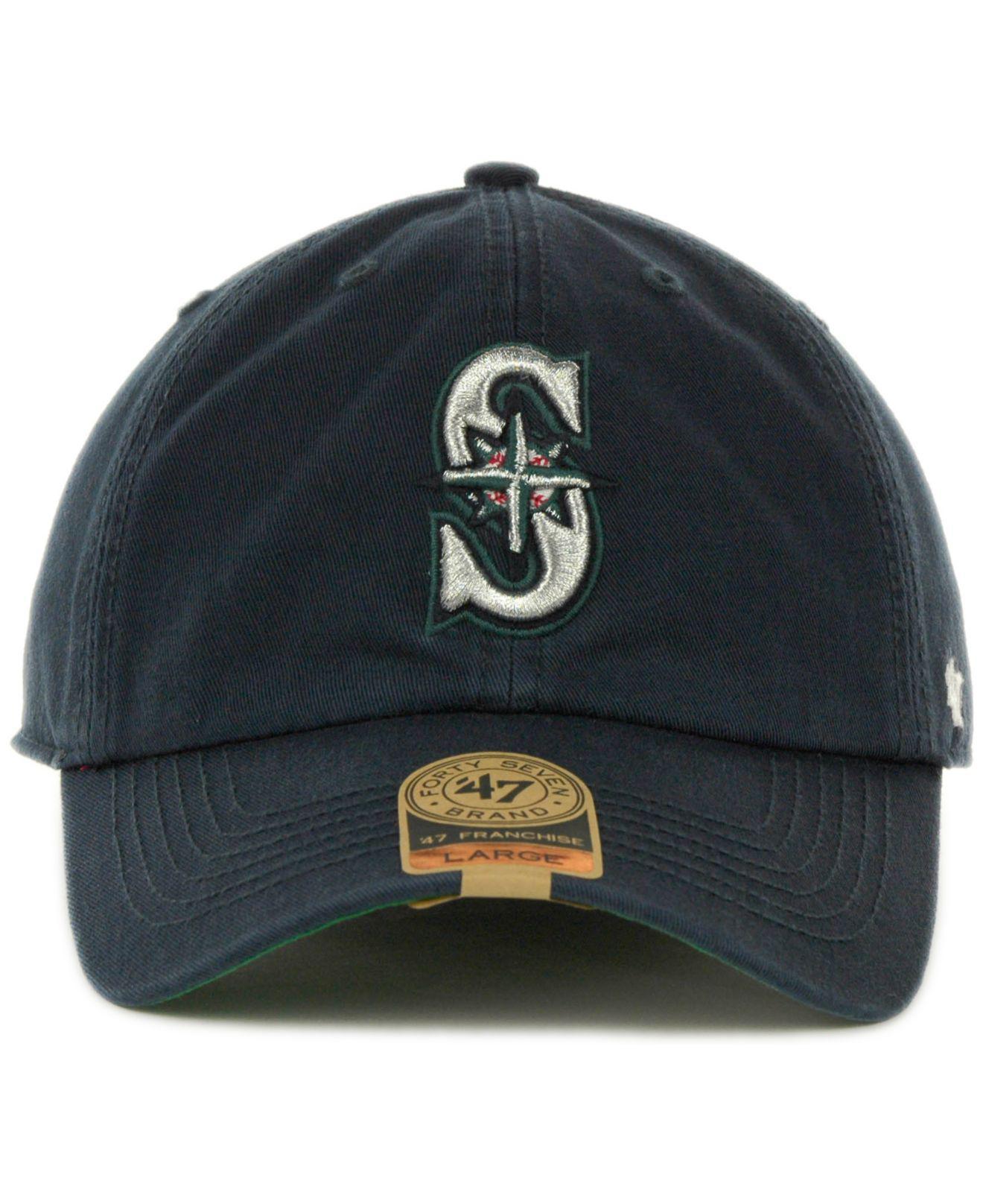 Lyst - 47 Brand Seattle Mariners Franchise Cap in Blue for Men 9eaf5d8433b7