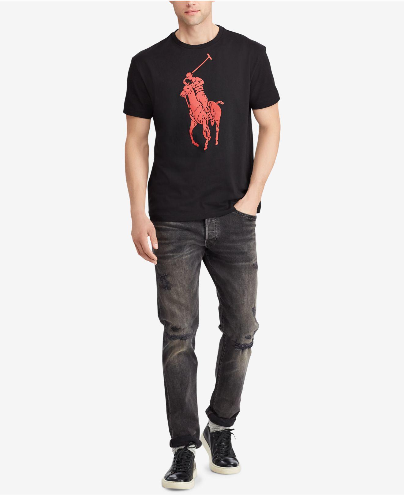 821b623f2 Polo Ralph Lauren - Black Polo Pony T-shirt for Men - Lyst. View fullscreen