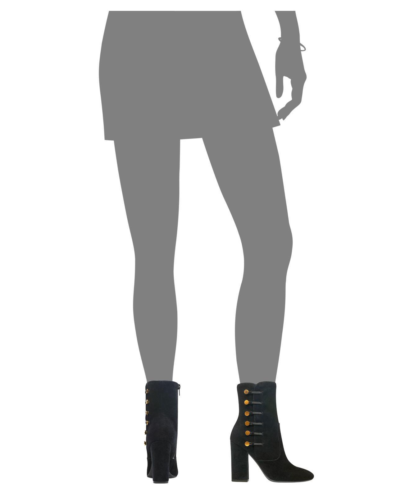 Lyst Guess Damens's Lucena Block heel Button Booties in schwarz schwarz in 02d012