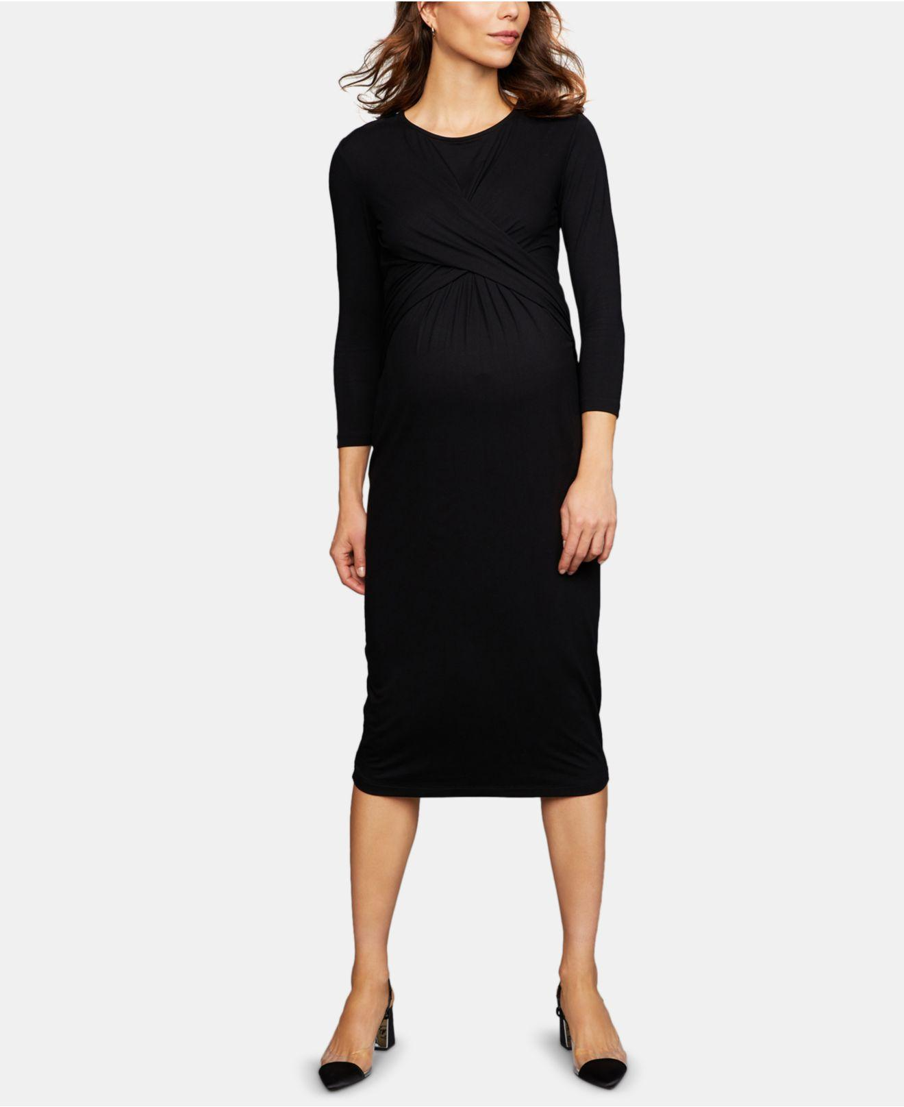 56d096a030e Lyst - Isabella Oliver Maternity Twist-front Dress in Black