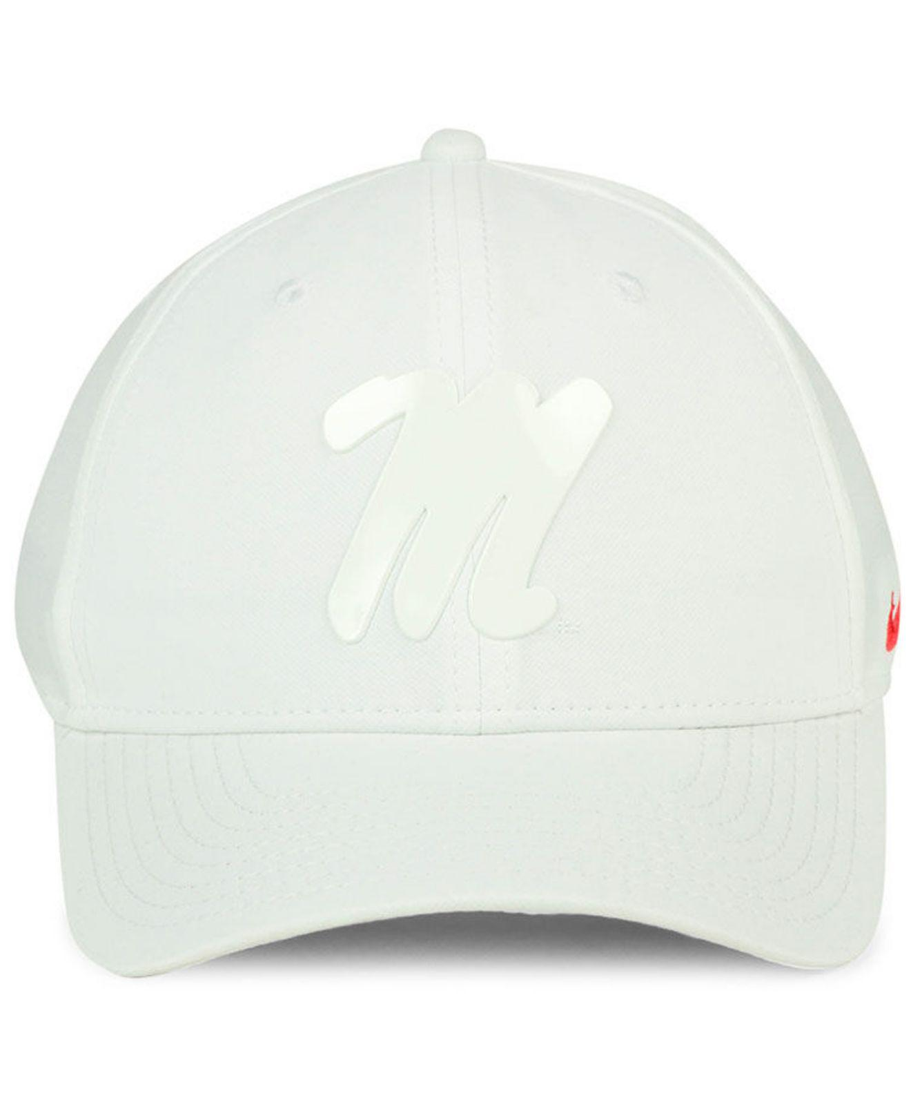 size 40 36113 cb4a2 ... usa lyst nike ole miss rebels col cap in white for men 11981 2e6aa