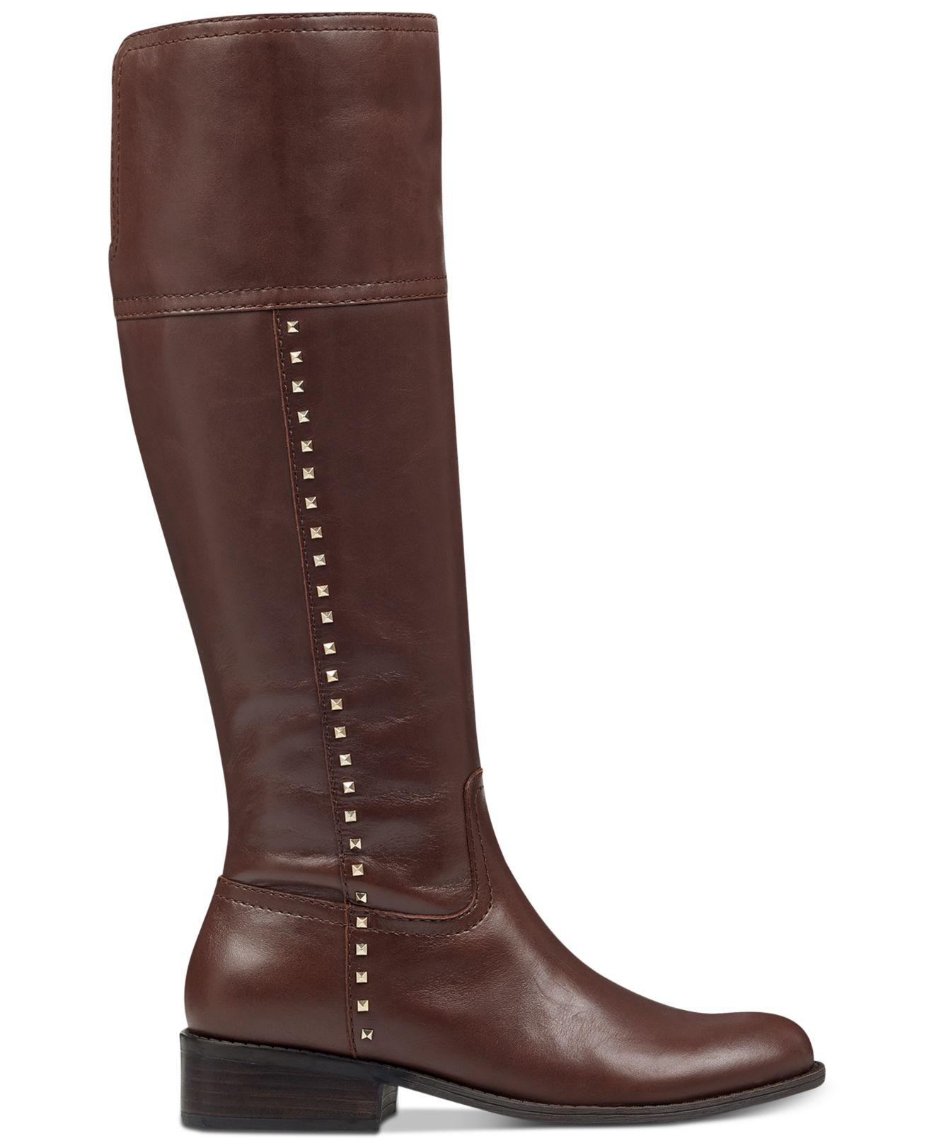 ba1c7624de1e Lyst - Marc Fisher Galaya Studded Boots in Brown