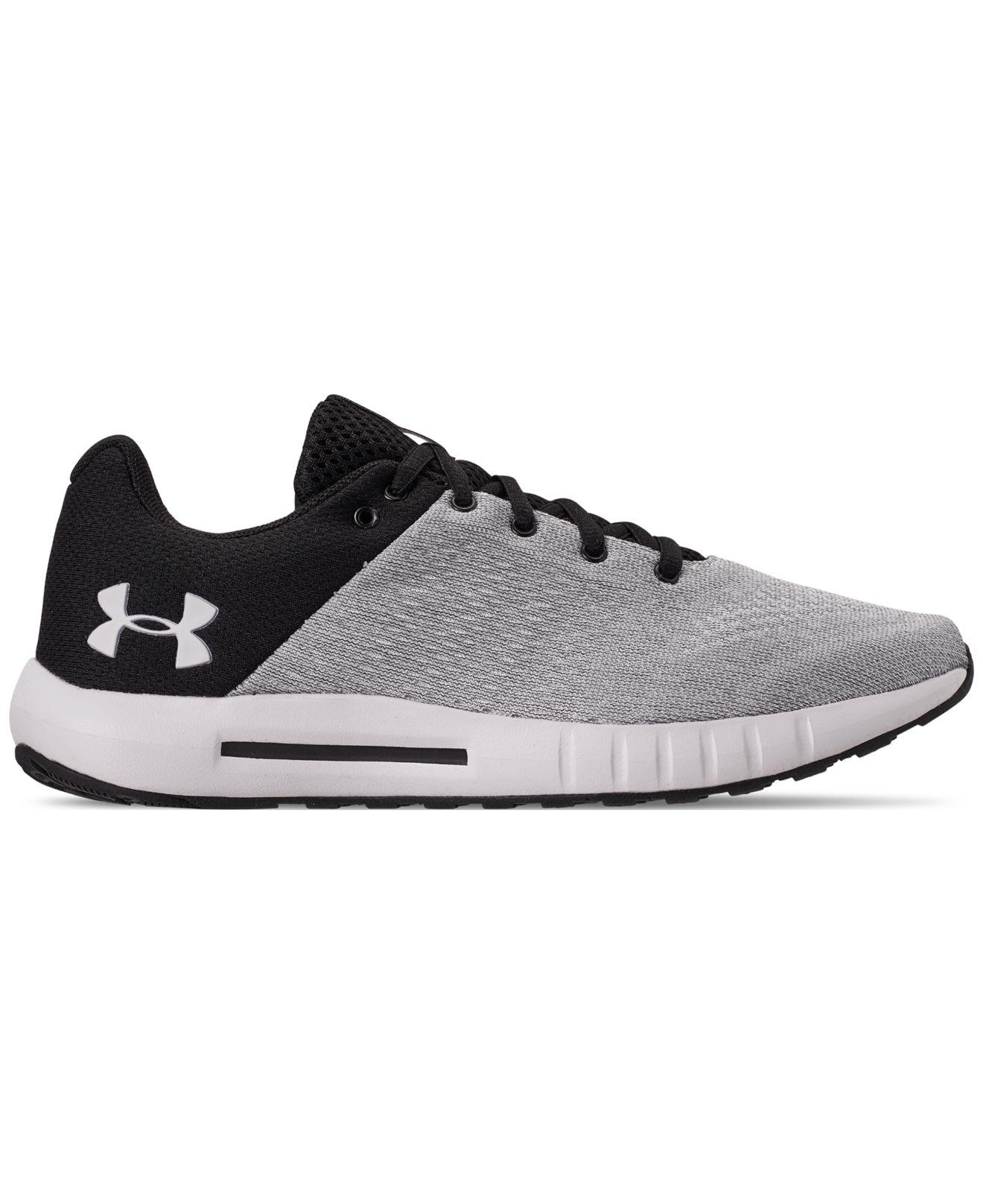 brand new 34024 5c151 Lyst - Under Armour Micro G Pursuit Athletic Sneakers From Finish Line in  White