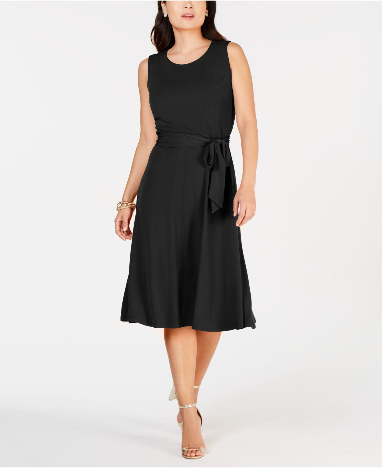 a6fc1d5a6b Charter Club. Women s Black Tie-waist Midi Dress ...