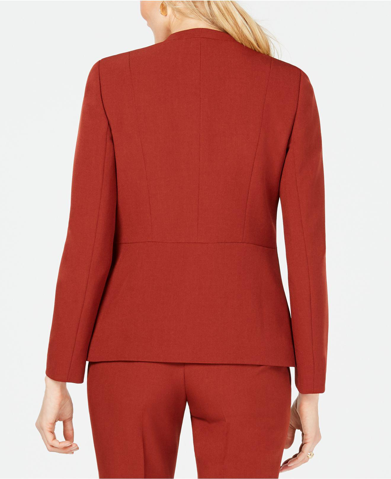 5f6f2ba6f4e Lyst - Kasper Stretch Crepe Blazer in Red - Save 23%