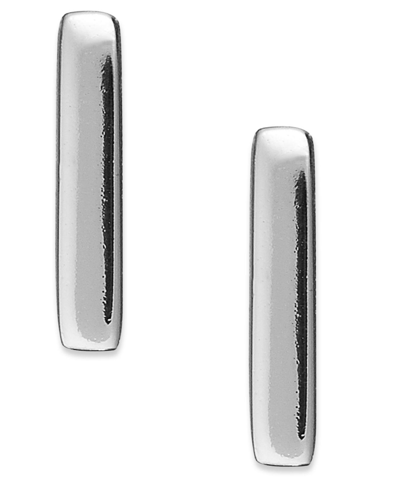 9922ad9eee5f07 Giani Bernini 18k Gold Over Sterling Silver Bar Stud Earrings in ...