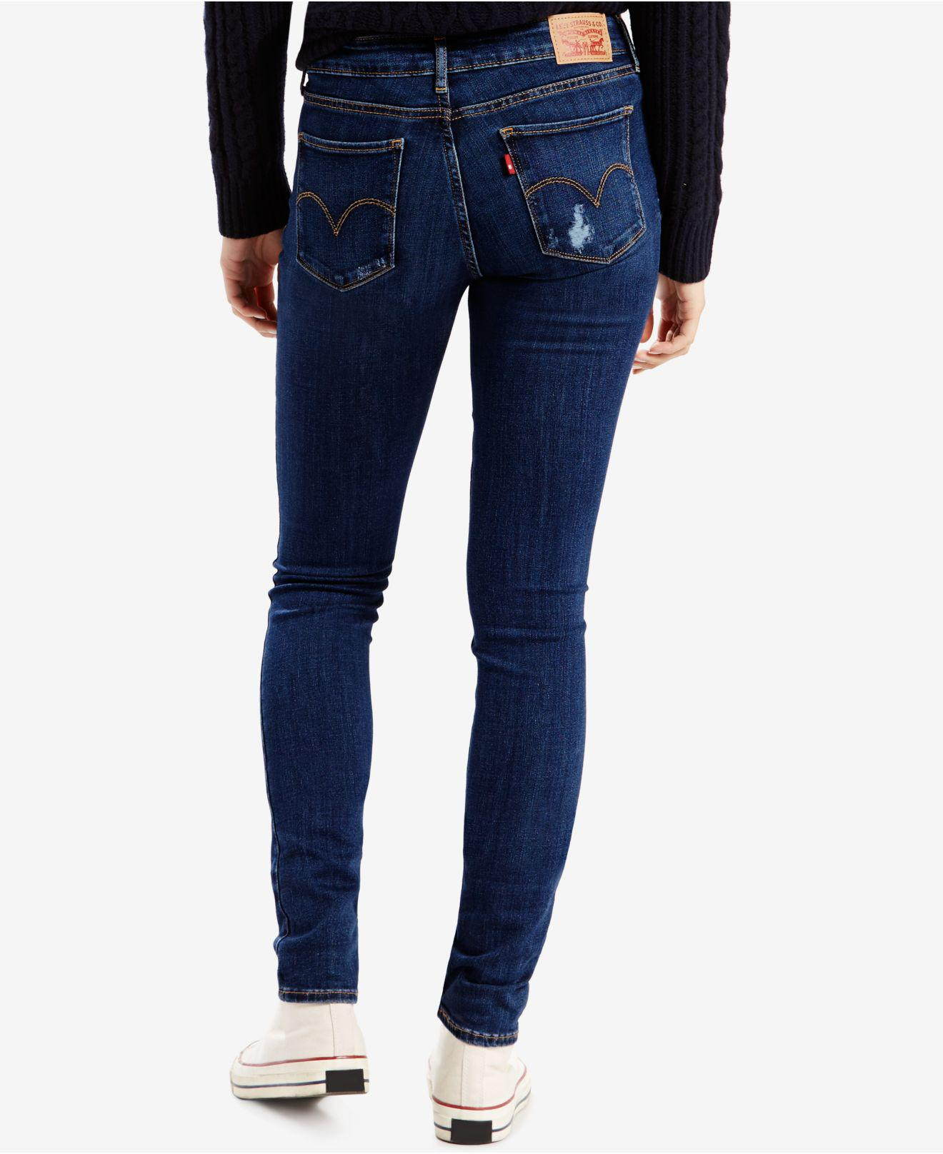 255eb08b62f Lyst - Levi s ® 711 Ripped Skinny Jeans in Blue - Save 17%