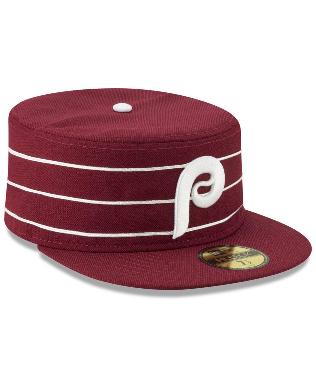 new concept 52cf3 b016a ... ebay philadelphia phillies pillbox 59fifty fitted cap for men lyst.  view fullscreen ff851 39fc3