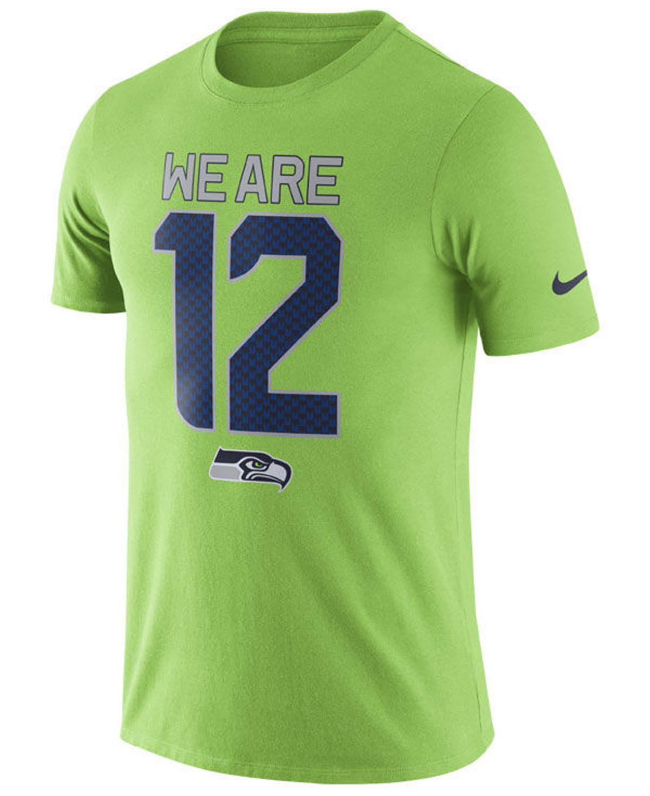 c39b3755f3f0 Lyst - Nike Seattle Seahawks Dri-fit Cotton Local T-shirt in Green ...