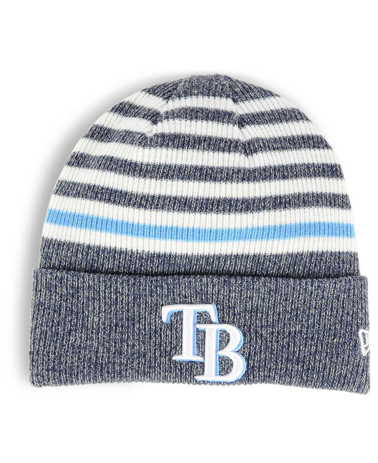finest selection dee2d 57cfa KTZ Tampa Bay Rays Striped Cuff Knit Hat in Blue - Lyst