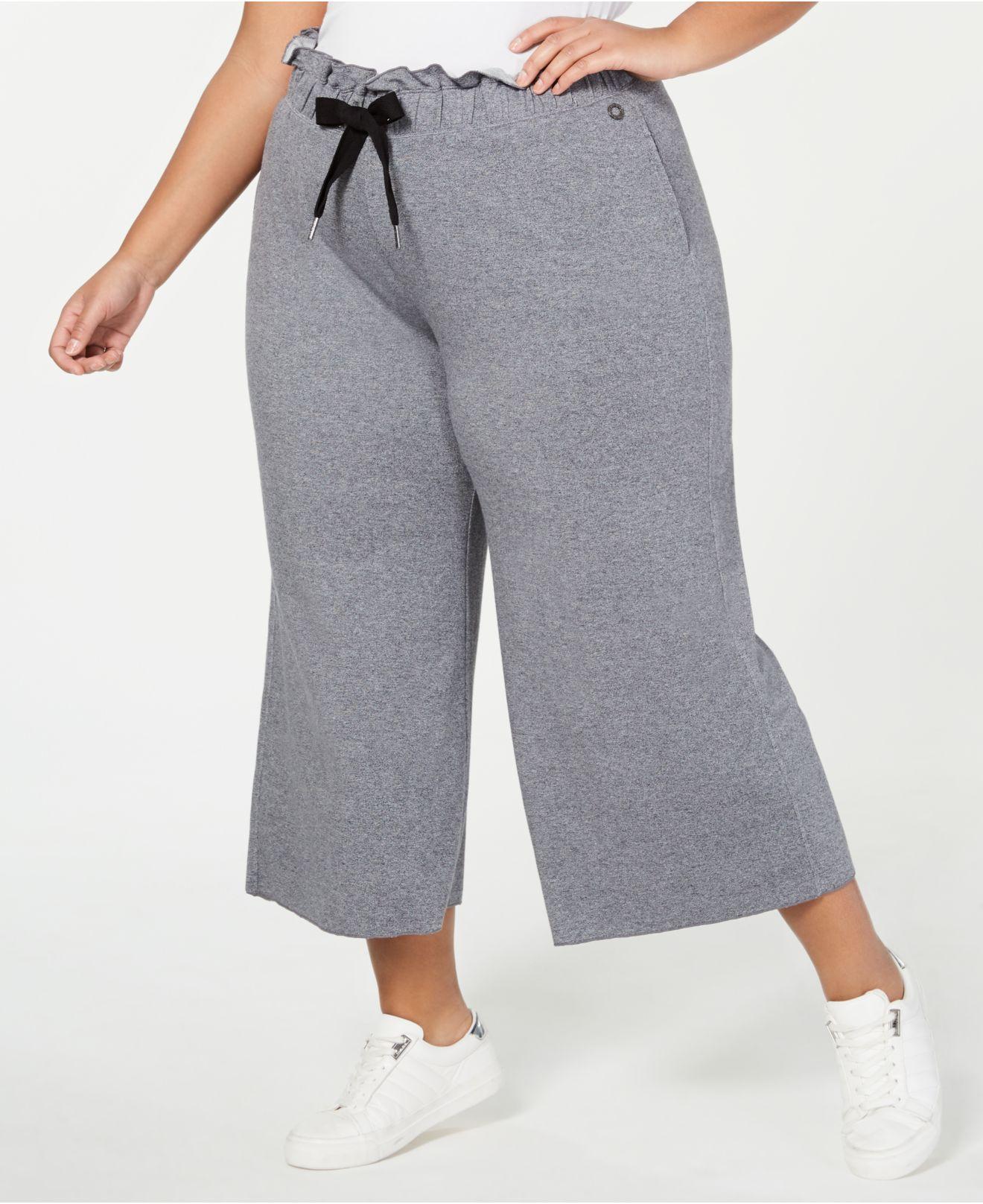 ab8c5e675d5 Calvin Klein. Women s Gray Performance Plus Size High-waist Cropped Pants