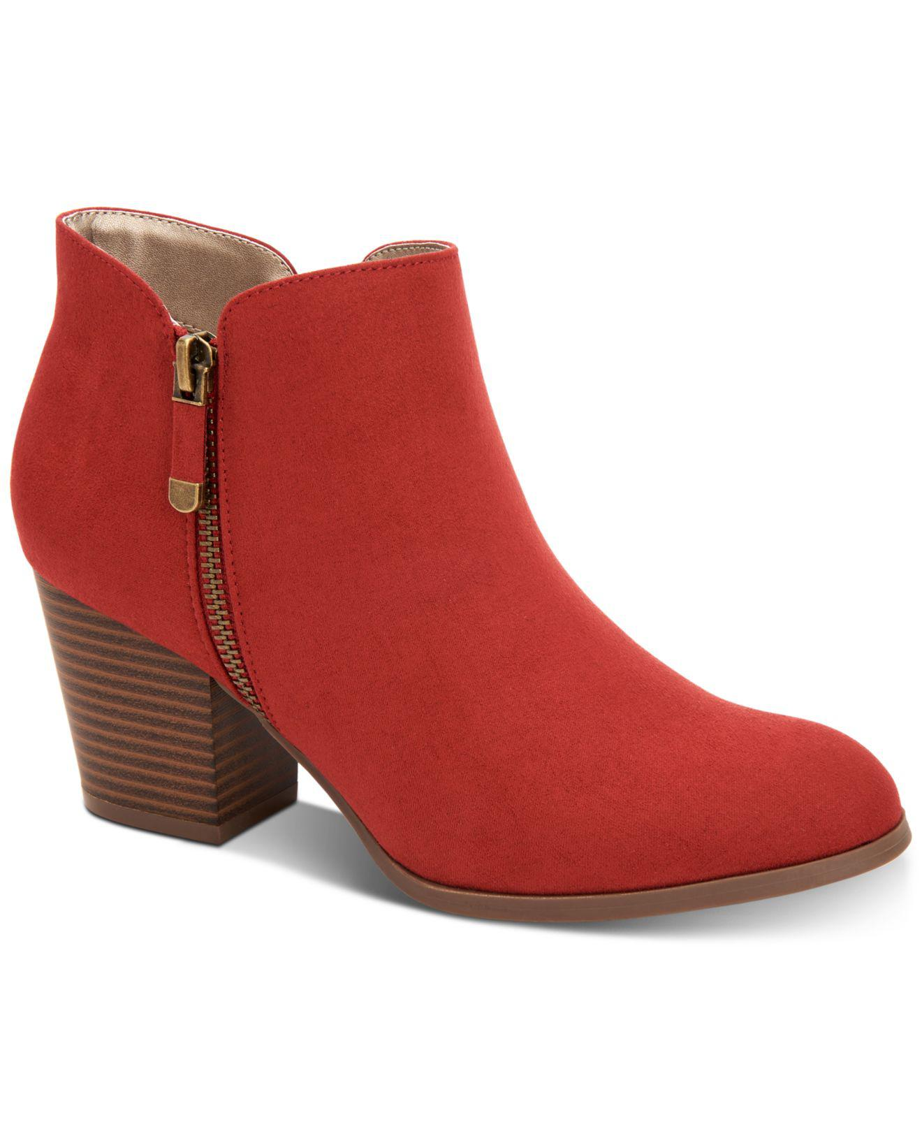 9676d114b50592 Style   Co. Women s Red Masrinaa Ankle Booties