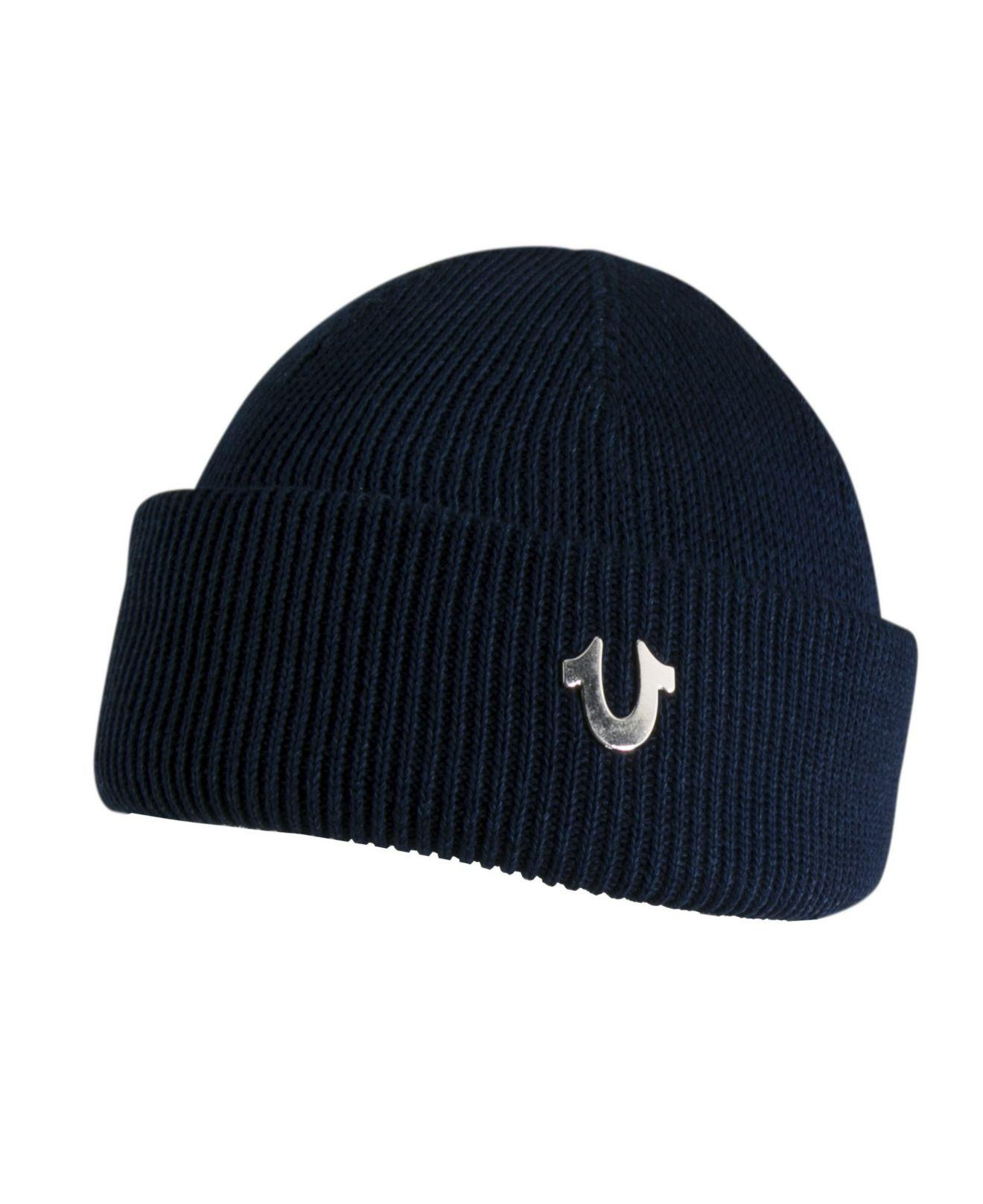 684036ee Lyst - True Religion Indigo-dyed Watchcap in Blue for Men