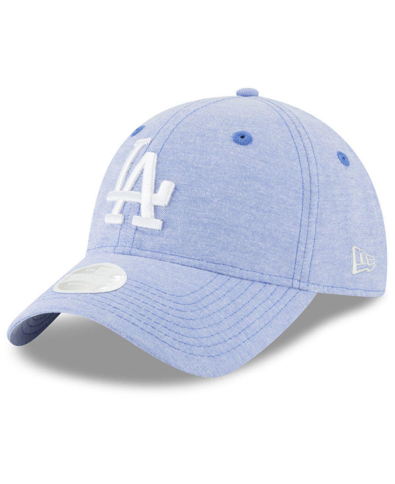 hot sale online 74168 be356 KTZ Los Angeles Dodgers Team Linen 9twenty Strapback Cap in Blue - Lyst