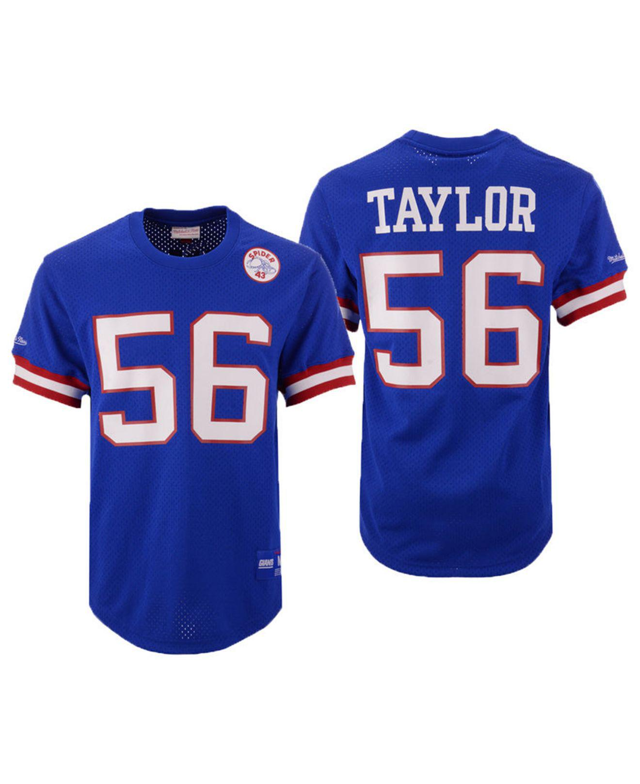6b2856fdb Mitchell   Ness. Men s Blue Lawrence Taylor New York Giants Mesh Name And  Number Crewneck Jersey