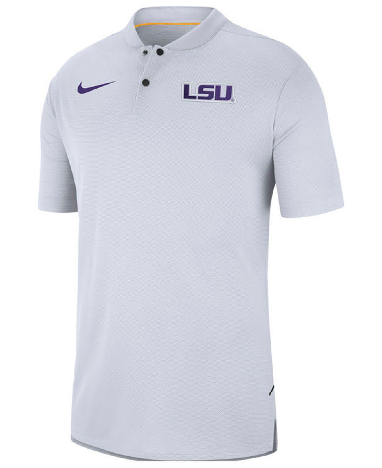 Lyst - Nike Lsu Tigers Elite Coaches Polo 2018 in White for Men 1cc4e293f