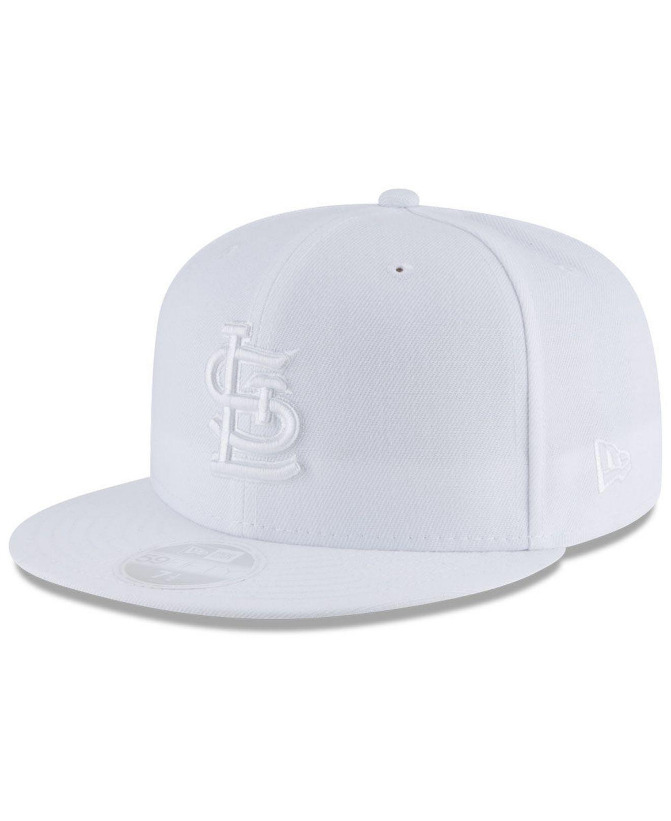 low priced f502d 6d0d2 KTZ - St. Louis Cardinals White Out 59fifty Fitted Cap for Men - Lyst. View  fullscreen