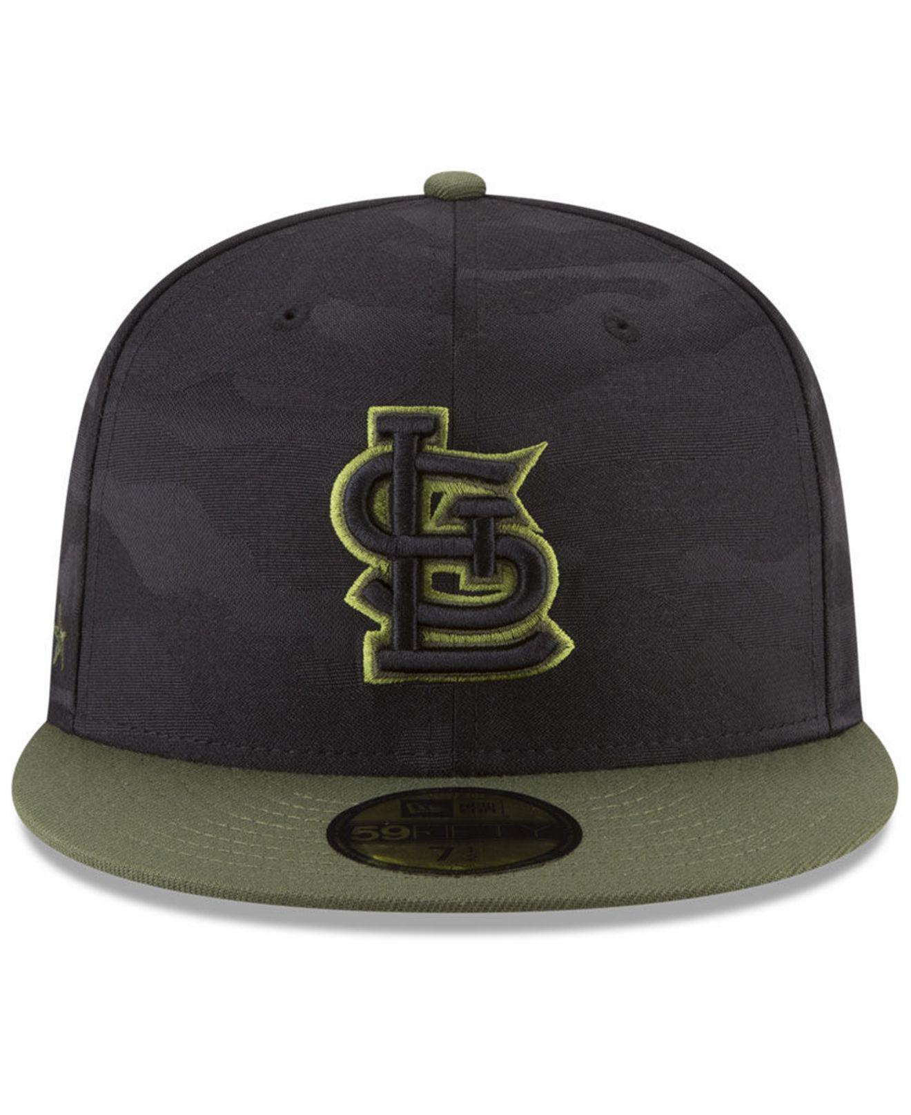 big sale c2571 a65bf ... clearance lyst ktz st. louis cardinals memorial day 59fifty fitted cap  in black for men