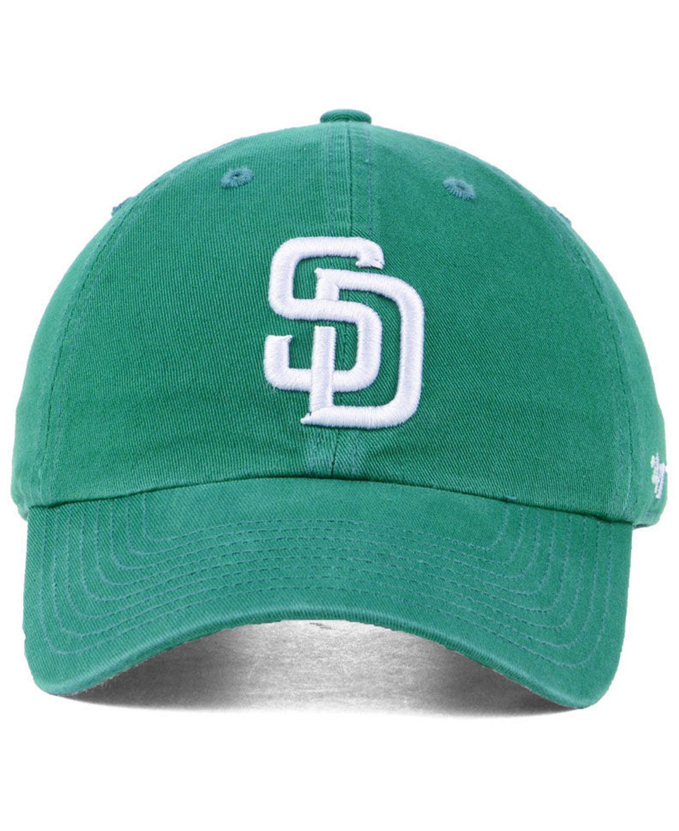 699f488c62b87 Lyst - 47 Brand San Diego Padres Kelly White Clean Up Cap in Green ...