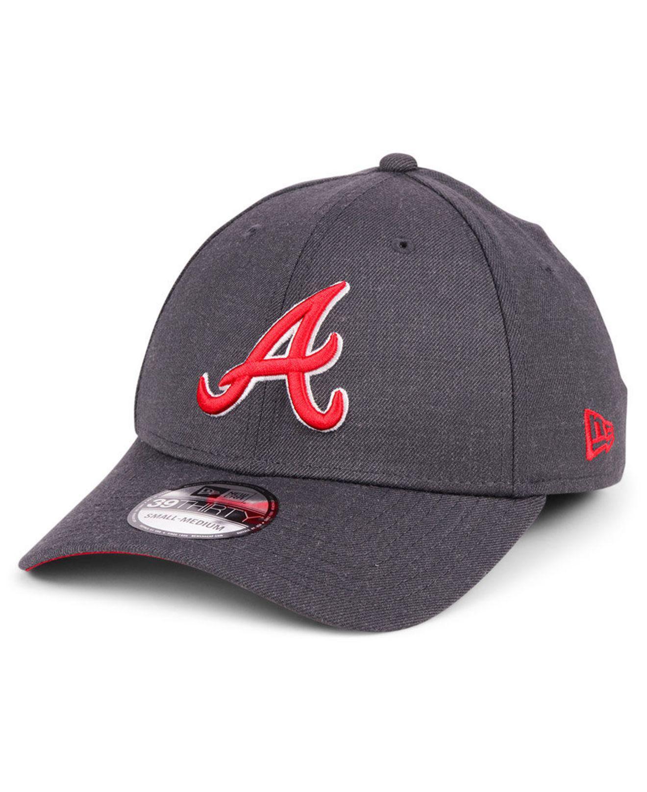 new products 27db5 026c8 KTZ. Men s Gray Atlanta Braves Charcoal Classic 39thirty Cap