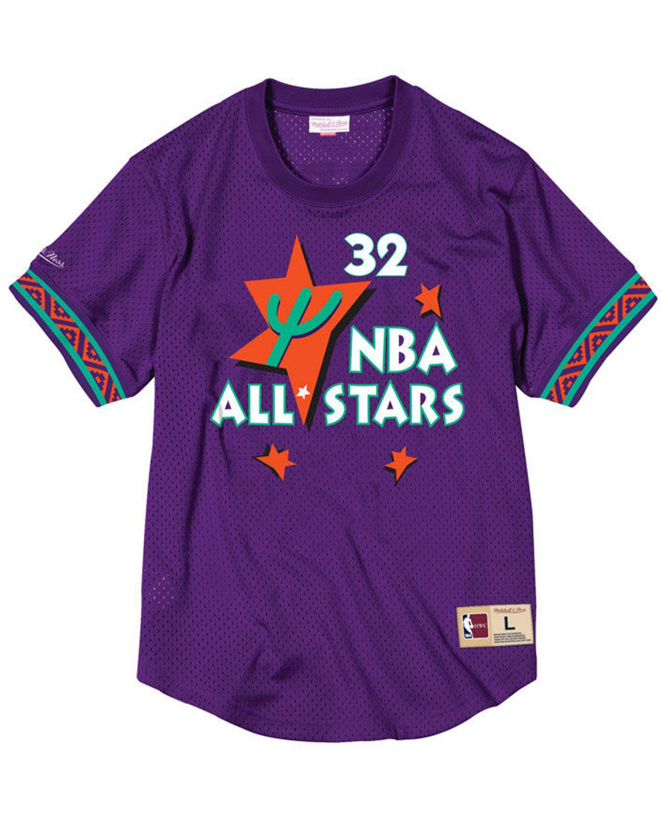 d9faba3ca Lyst - Mitchell   Ness Shaquille O neal Nba All Star 1995 Mesh Crew Neck  Jersey in Purple for Men