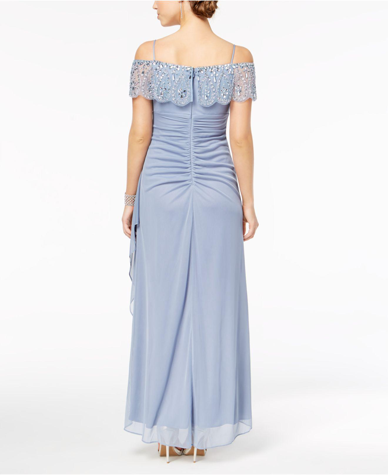 417966b5 Xscape Petite Embellished Off-the-shoulder Gown in Blue - Lyst