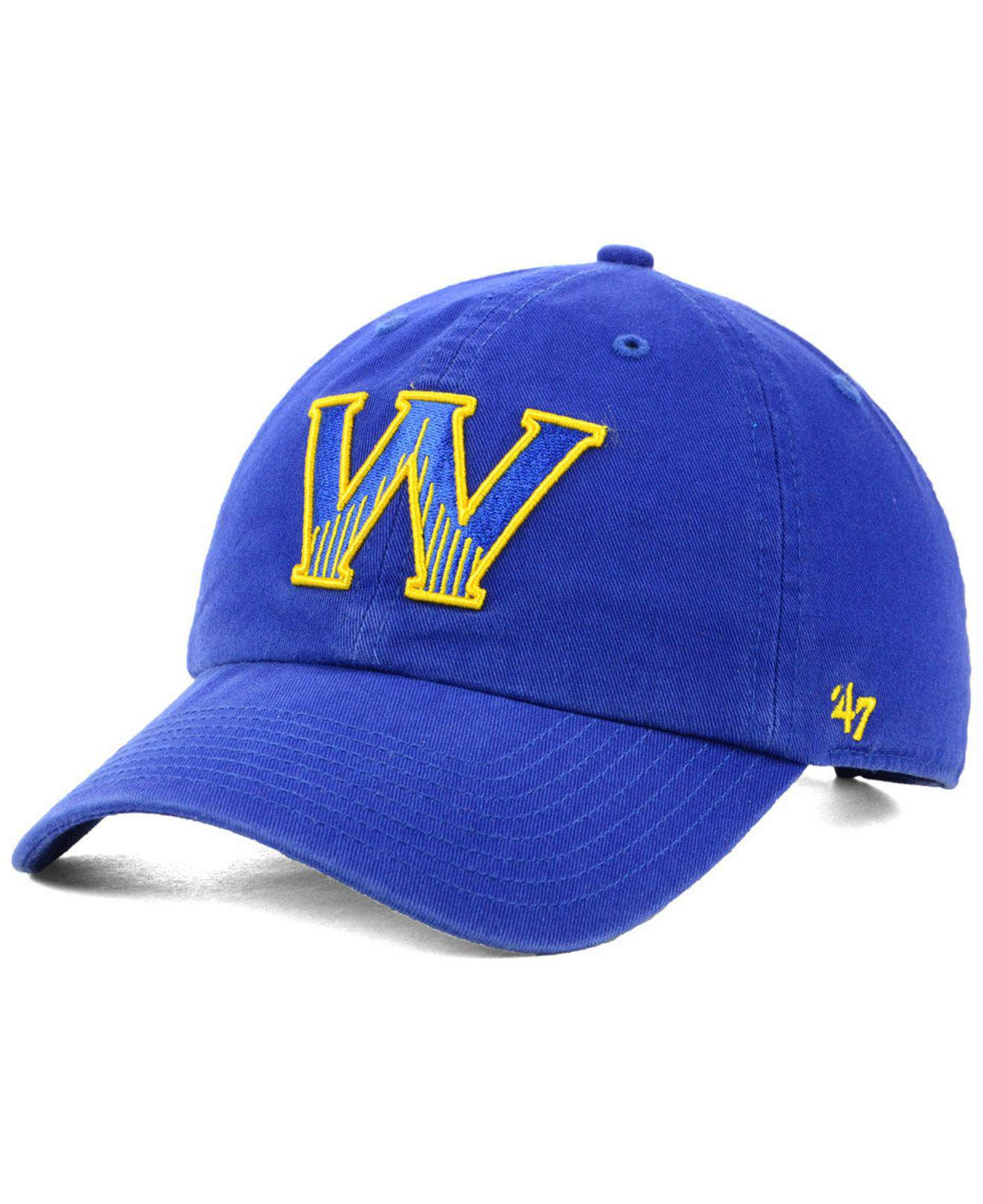bb6cdc1678286 Lyst - 47 Brand Golden State Warriors Mash Up Clean Up Cap in Blue ...