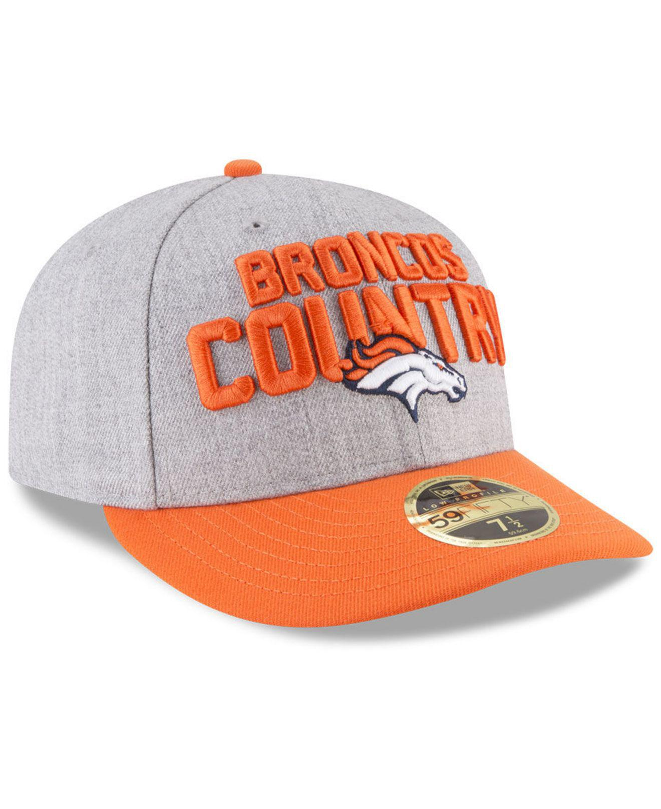 san francisco 0ddfe e3a4f KTZ - Orange Denver Broncos Draft Low Profile 59fifty Fitted Cap for Men -  Lyst. View fullscreen