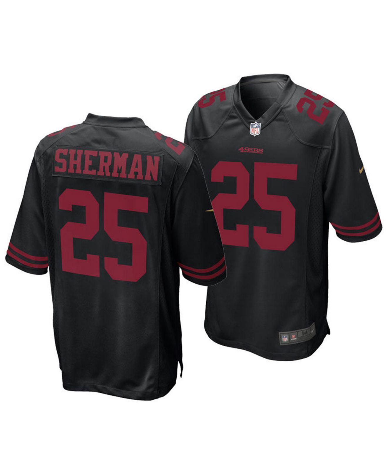 a528123d191 ... ireland nike. mens black richard sherman san francisco 49ers game jersey  1fcd9 f549b