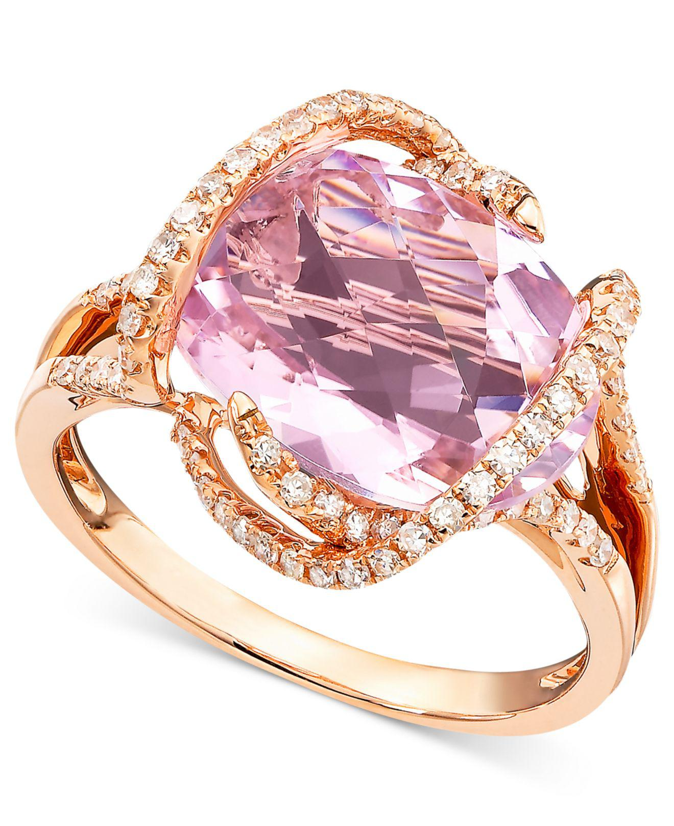 Lyst - Effy Collection Pink Amethyst (7-3/4 Ct. T.w.) And Diamond (3 ...