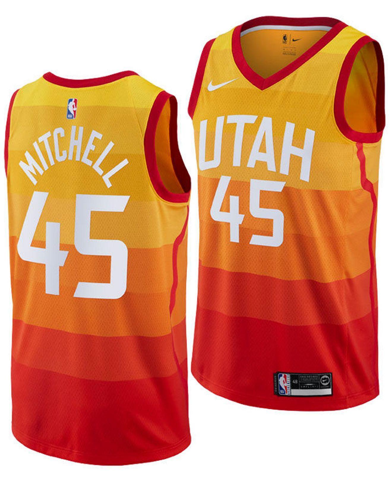 08f6b5528 Nike - Yellow Donovan Mitchell Utah Jazz City Swingman Jersey 2018 for Men  - Lyst. View fullscreen