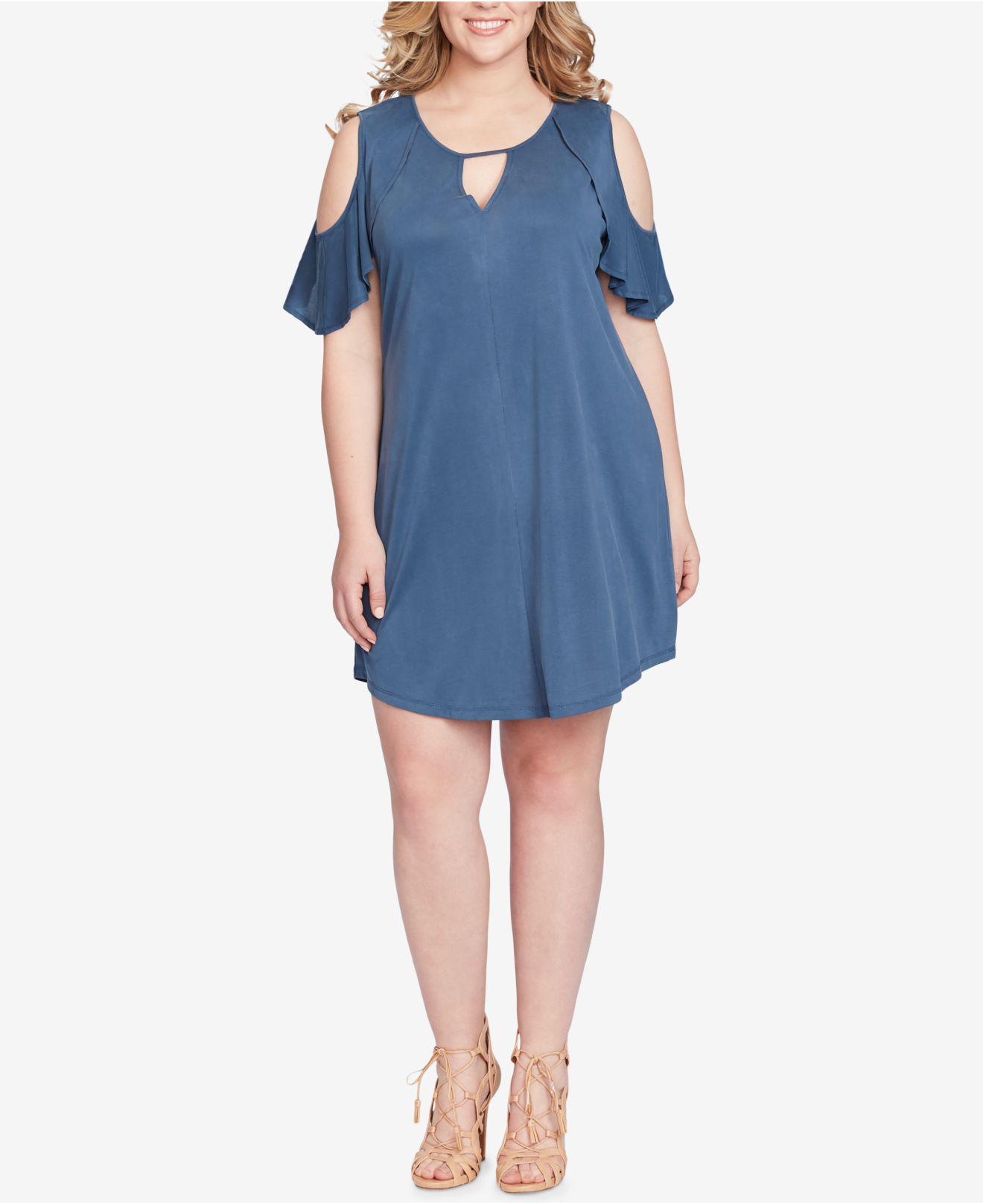fcc8568d496706 Lyst - Jessica Simpson Trendy Plus Size Cold-shoulder Shift Dress in ...