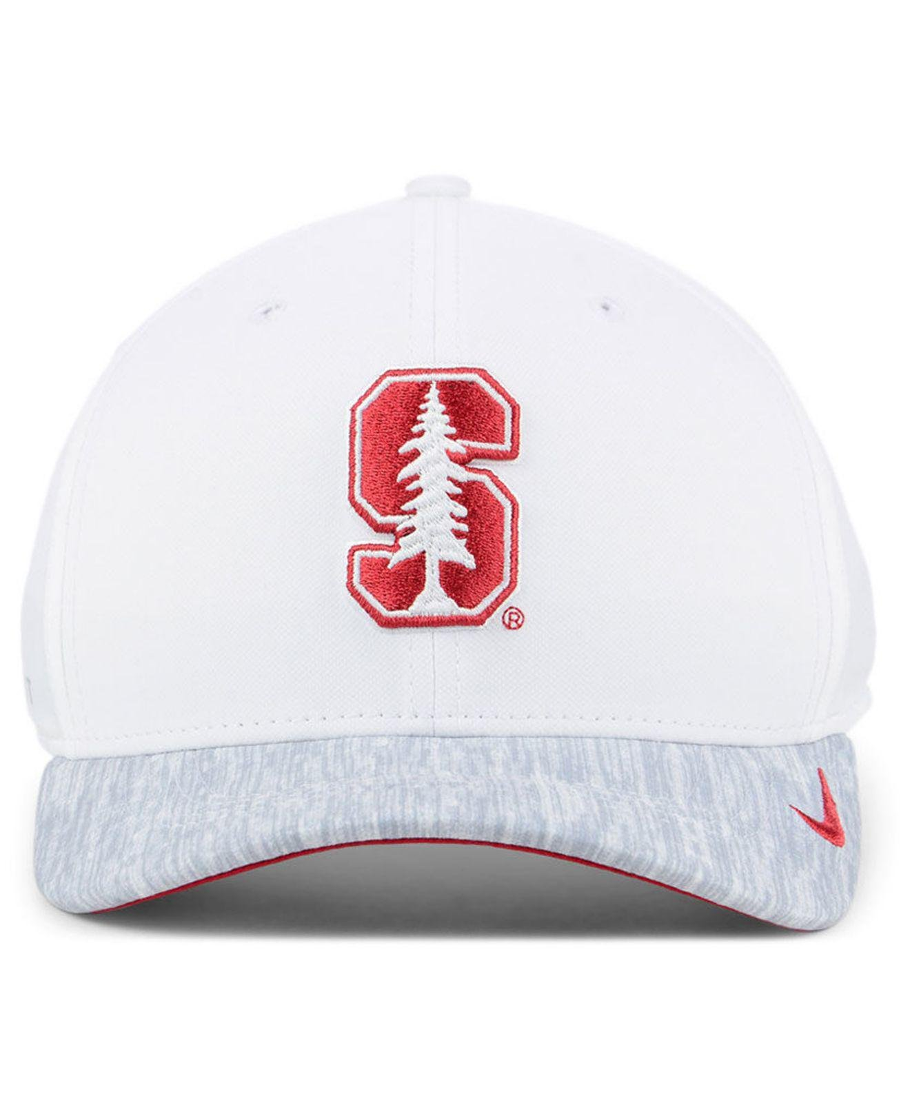 new arrival c3f1c d4a08 ... get lyst nike stanford cardinal arobill swoosh flex cap in white for  men 679ec 92999