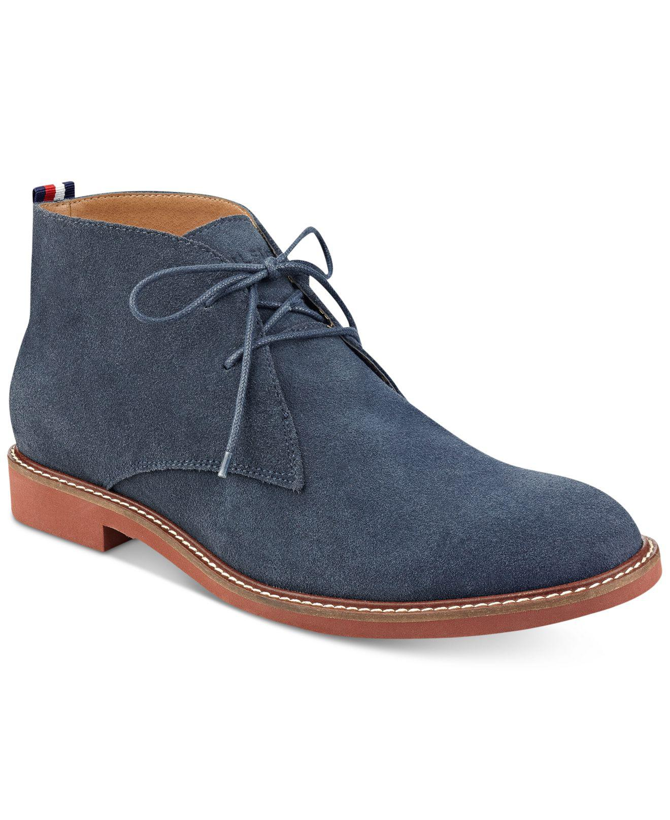 21266dcb47b9b3 Lyst - Tommy Hilfiger Men s Gervis Chukka Boots in Blue for Men