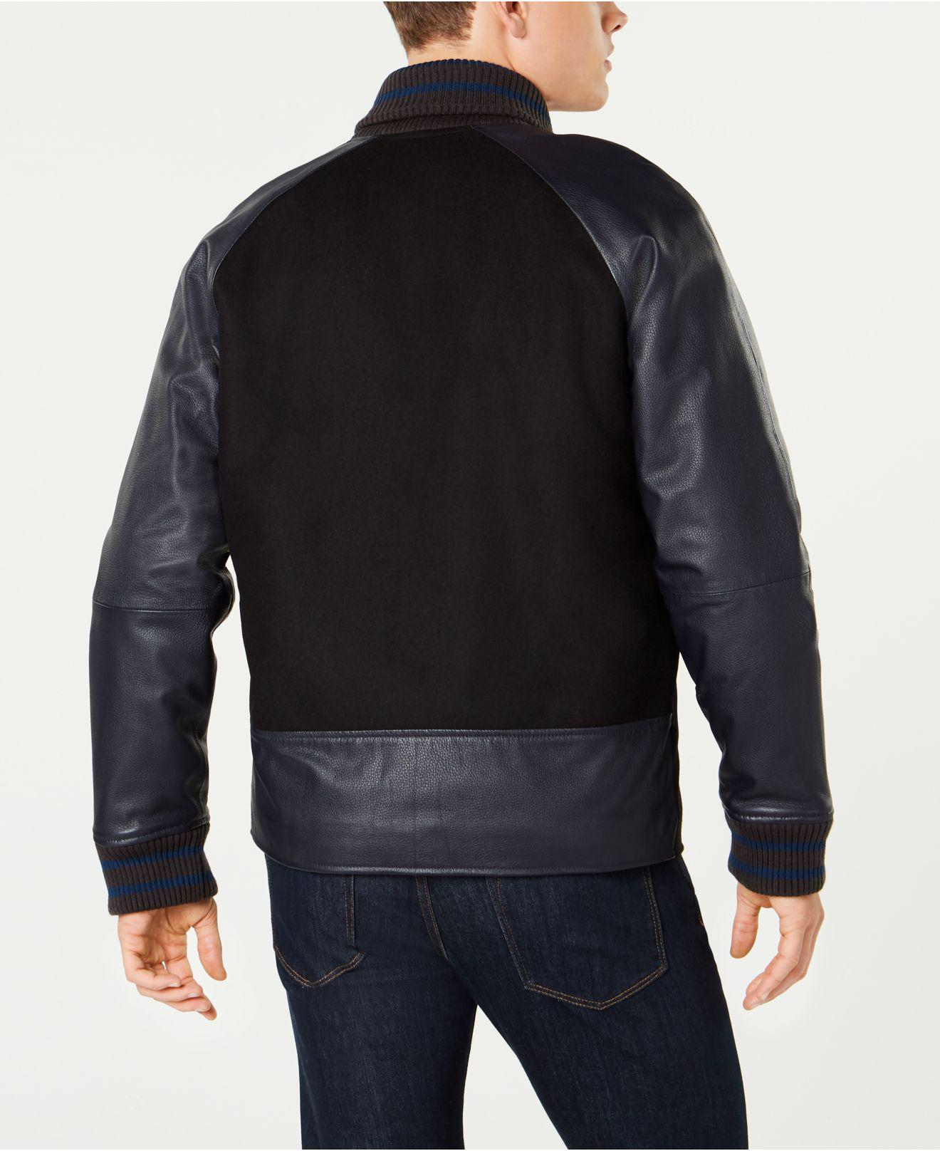 Klein Lyst Jacket Black For Mixed Media Men Varsity Calvin In 55xr4fnq