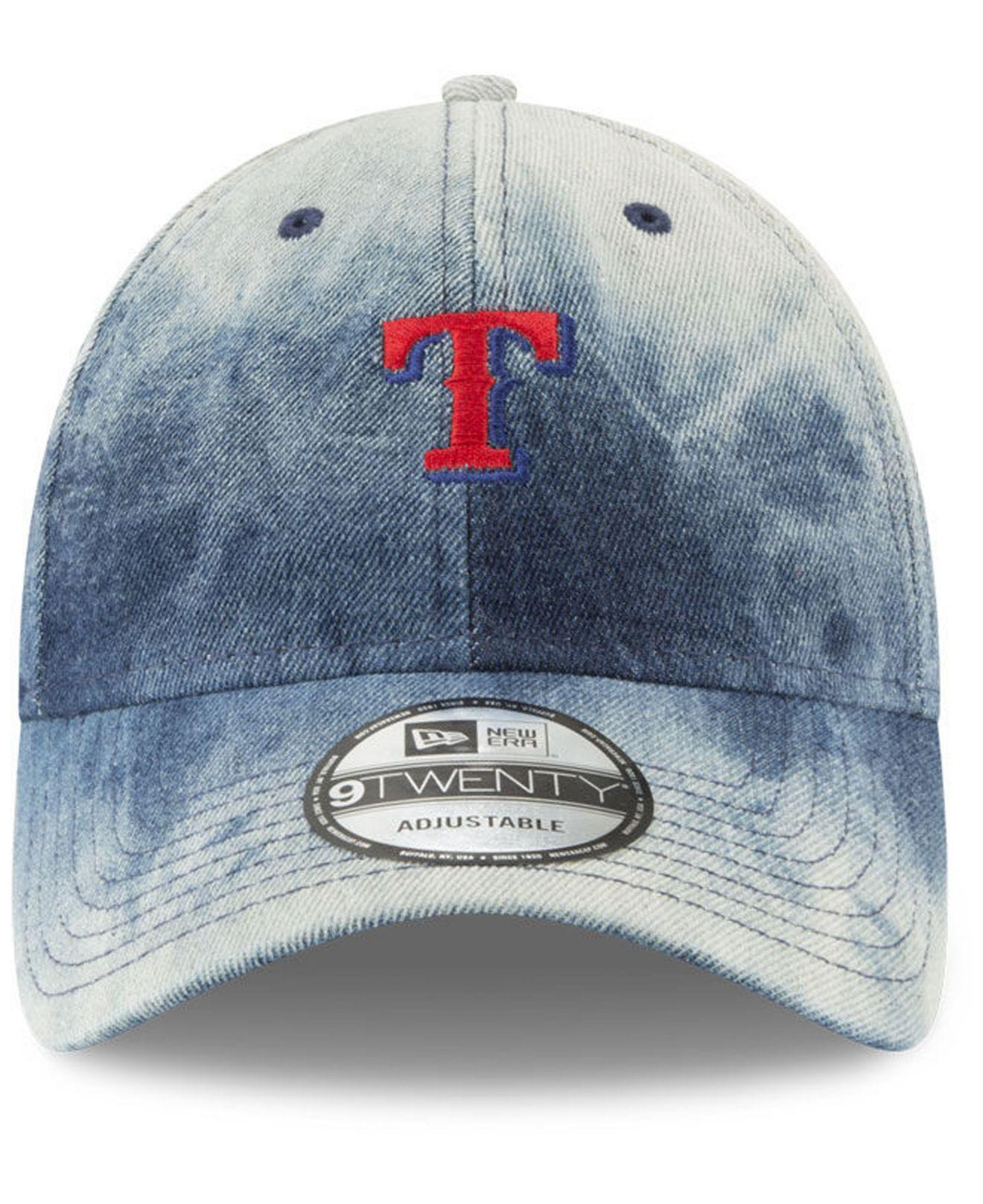big sale 6f3ff 80feb ... denmark lyst ktz texas rangers denim wash out 9twenty cap in blue for  men ab974 73297