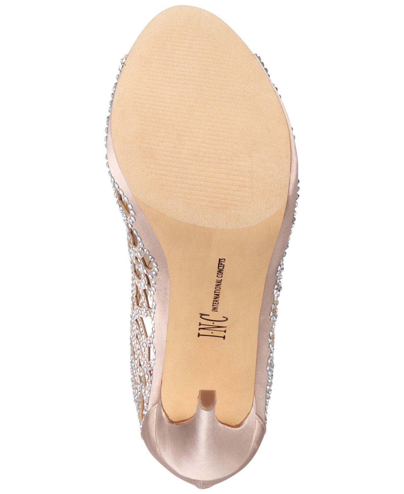 7e2c15bd6ea4a Lyst - INC International Concepts Sarane Evening Sandals in Natural