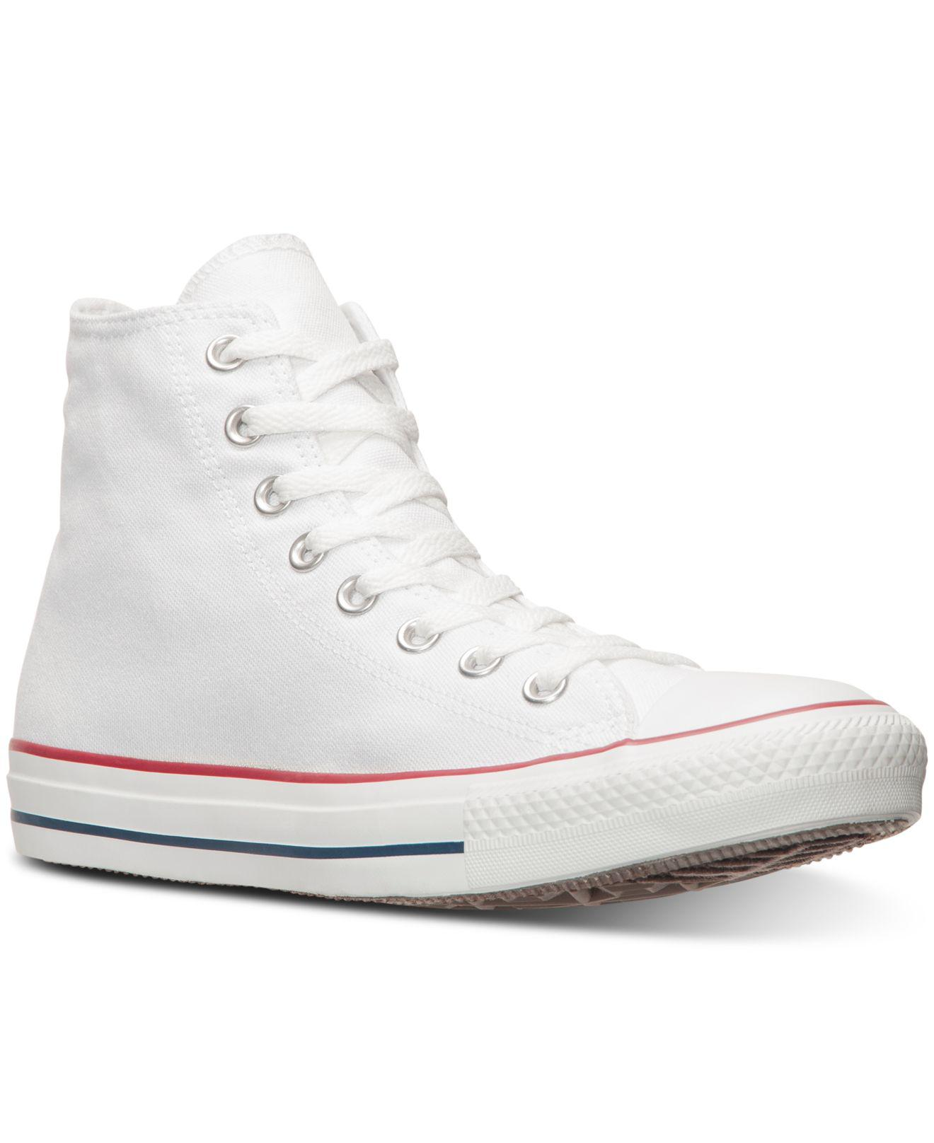 ... real converse. white mens chuck taylor all star canvas high top sneakers  a4361 7c465 2714b5465
