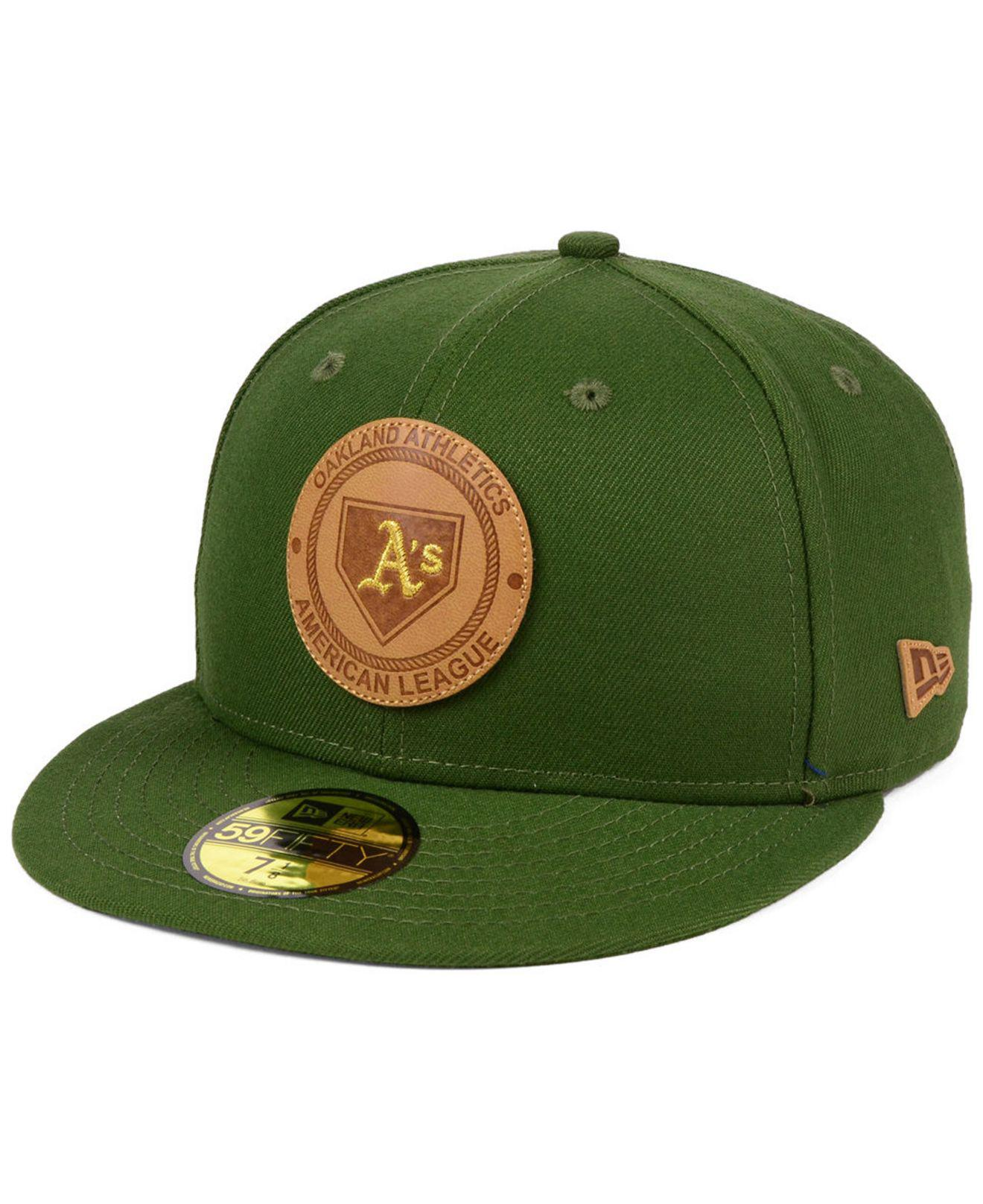 sports shoes f7c63 80d20 reduced oakland athletics new era mlb red bw 59fifty cap 563da c56e7   canada lyst ktz oakland athletics vintage olive 59fifty fitted cap in 50fed  a93c8