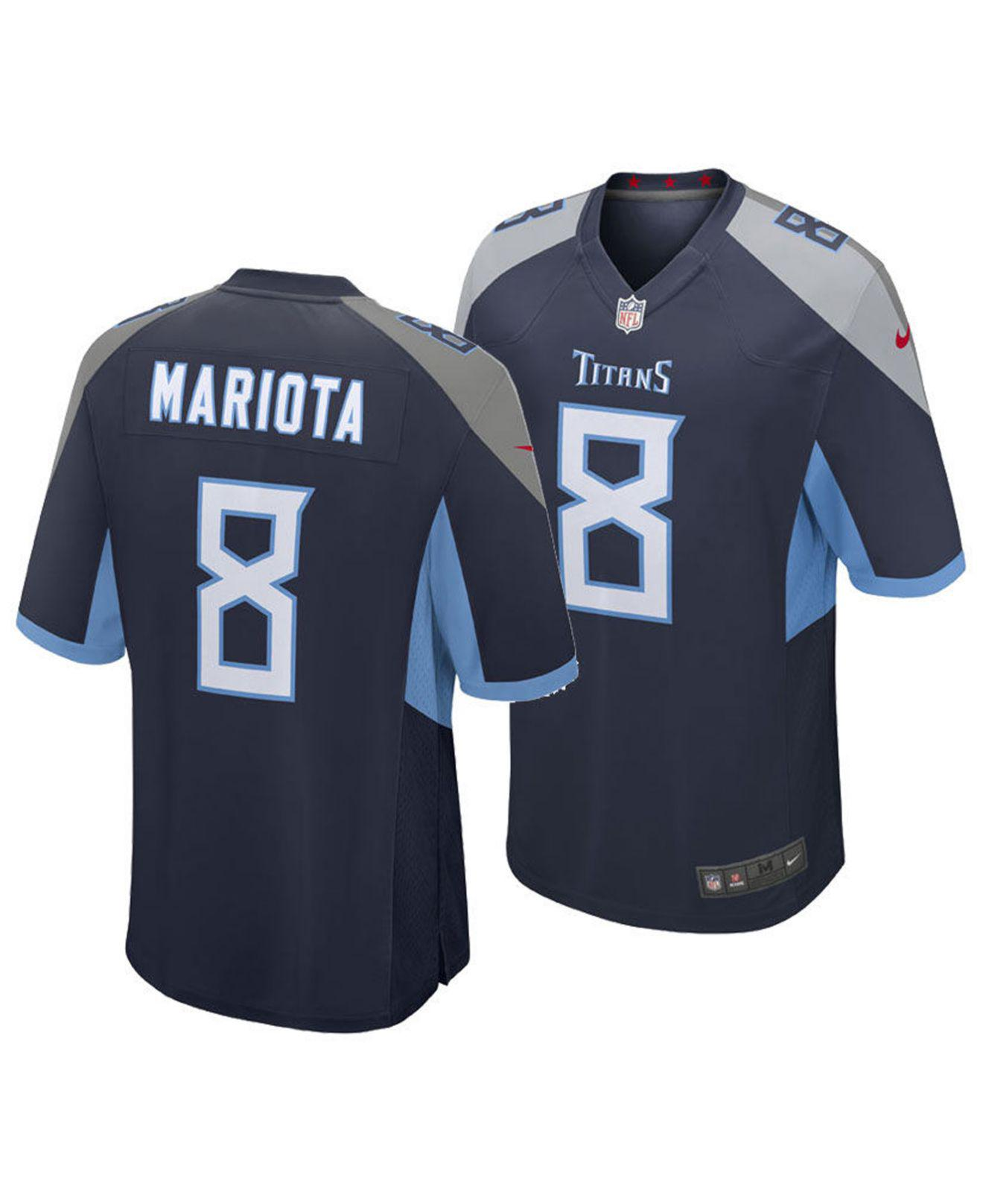 8a2f329e Lyst - Nike Marcus Mariota Tennessee Titans Game Jersey in Blue for Men