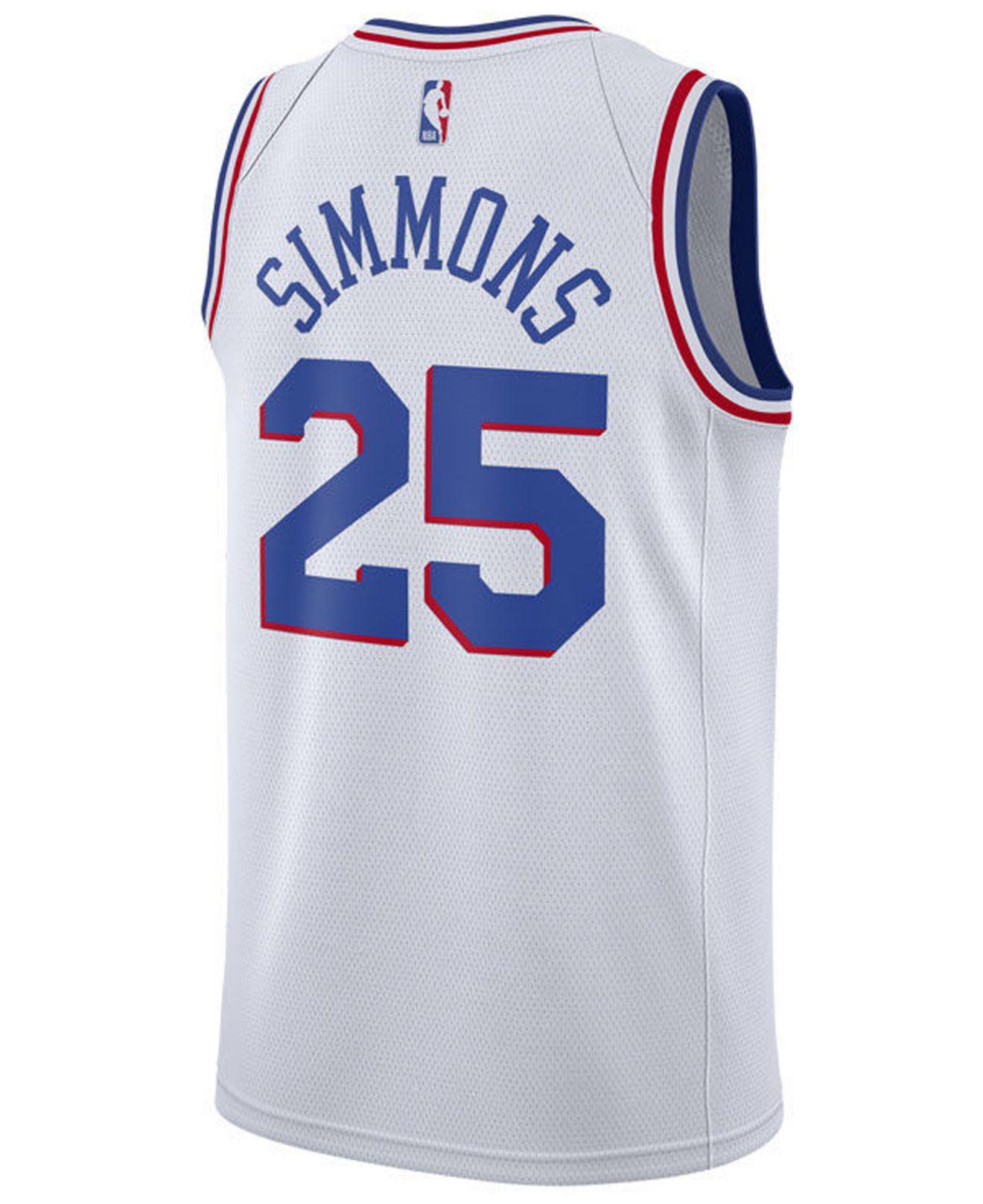 fcbb06d9360 Nike Ben Simmons Philadelphia 76ers Earned Edition Swingman Jersey in White  for Men - Lyst