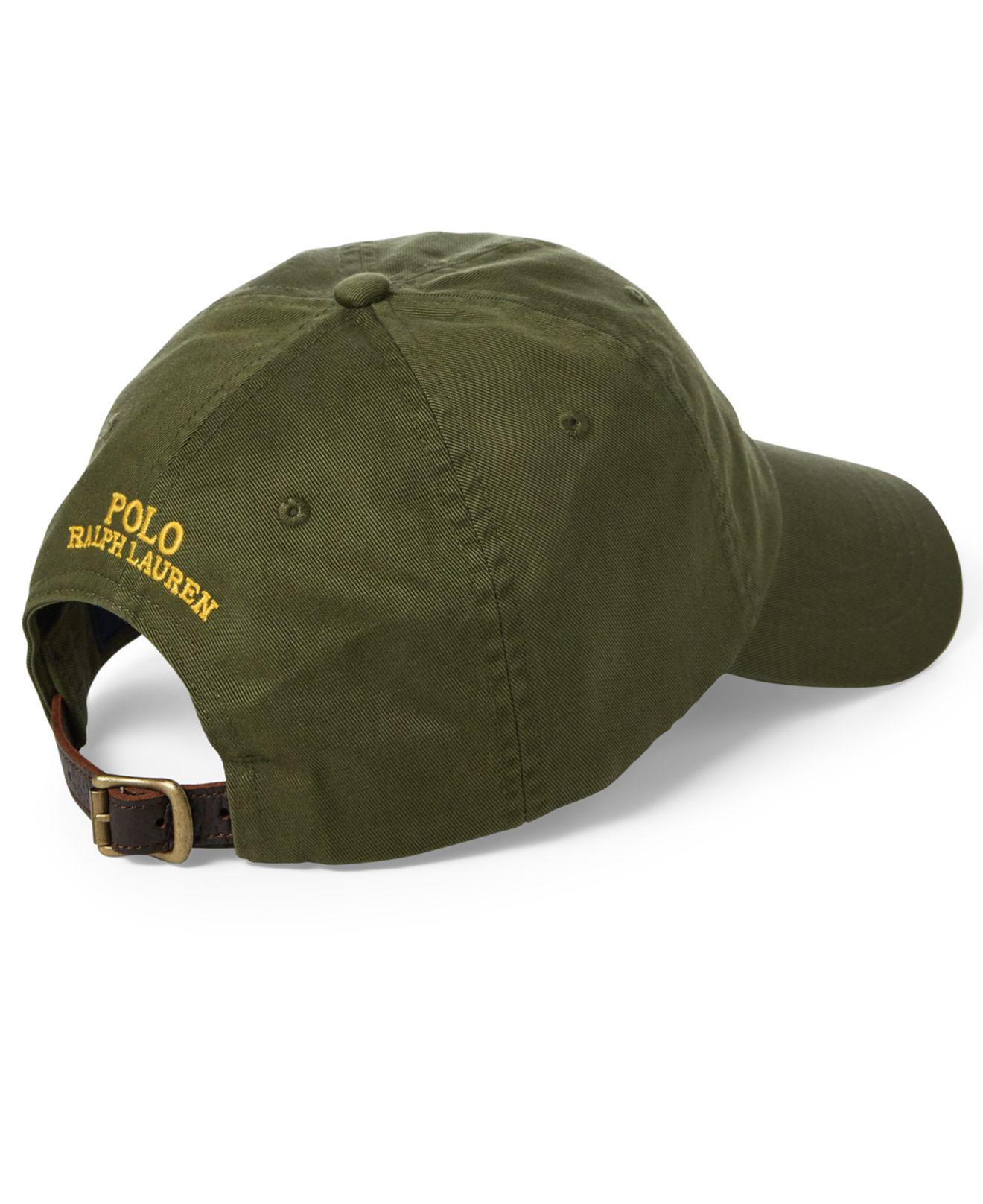0f0ea16b5 Polo Ralph Lauren Great Outdoors Polo Bear Baseball Cap in Green for ...