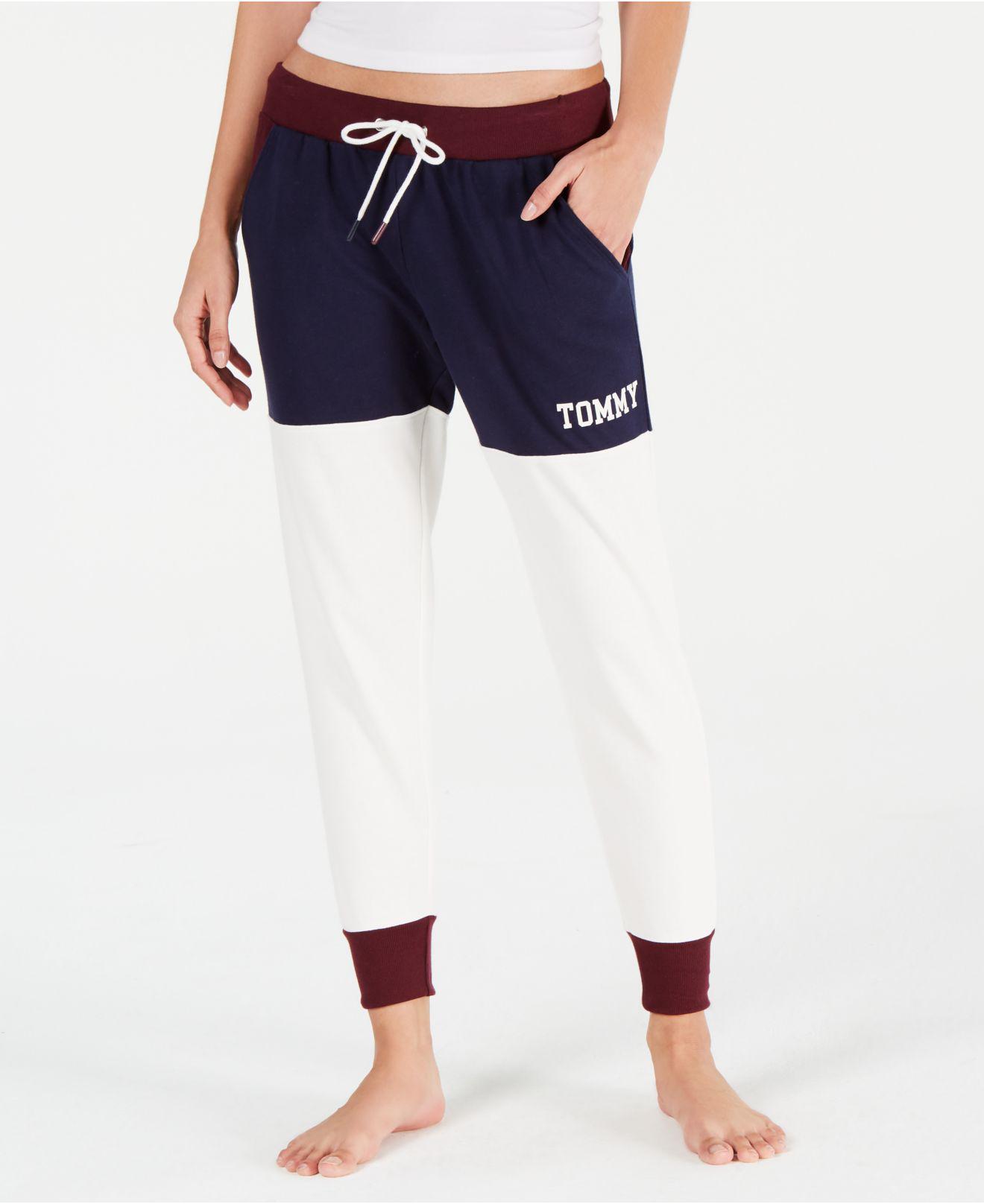 a5737397f3fd Tommy Hilfiger. Women's Blue Colorblock Logo Jogger Pajama Pants R65s077
