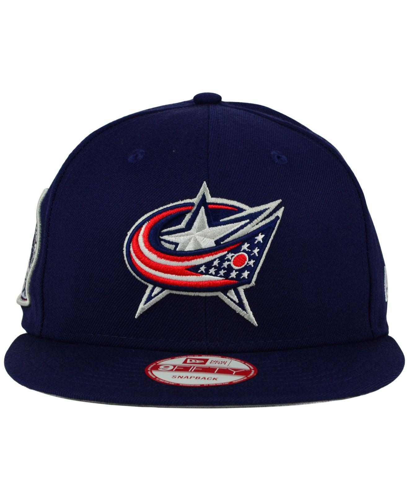 Lyst - KTZ Columbus Blue Jackets All Day 9fifty Snapback Cap in Blue ... ee042ee40e77