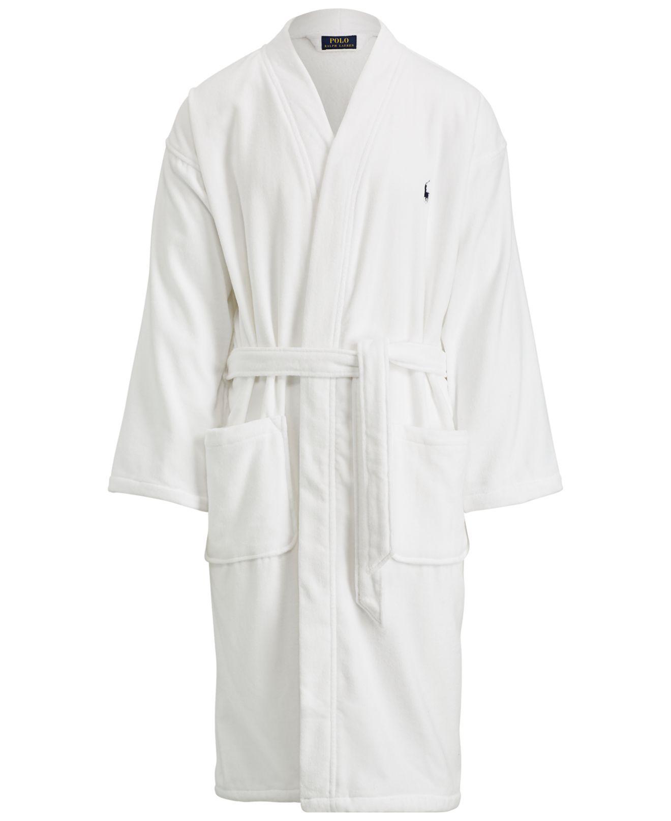 b5683e6b ... cheap lyst polo ralph lauren big tall shawl cotton robe in white for men  3db3c a93be