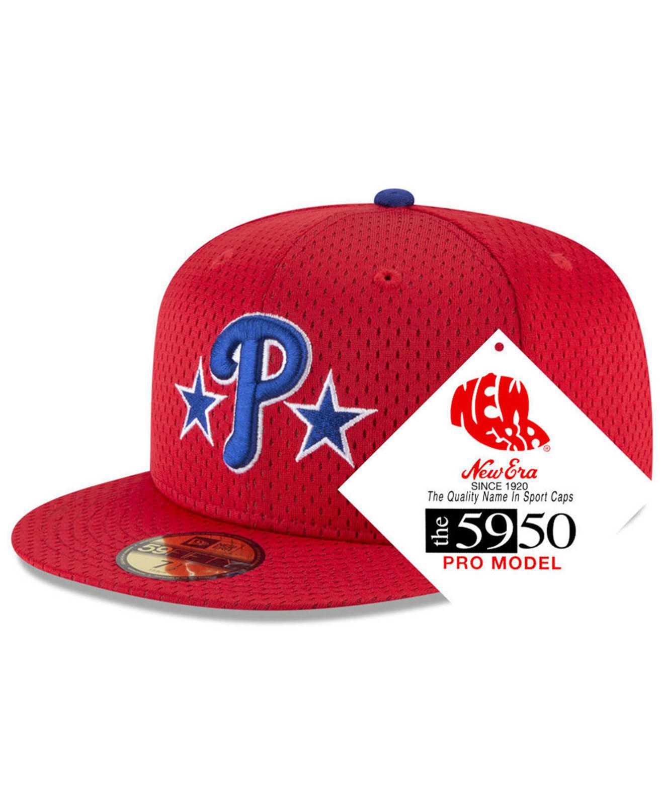 new concept 6e25f 48bd8 ... australia ktz. mens red philadelphia phillies retro classic batting  practice 59fifty fitted cap 3d5ac 0ba2c
