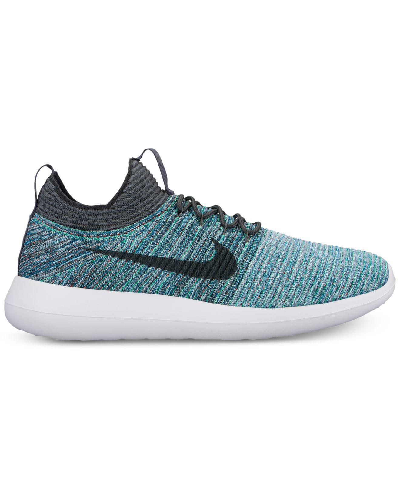 the best attitude 703e2 f9f35 ... low cost nike. mens blue roshe two flyknit v2 casual sneakers from finish  line 363d9 ...