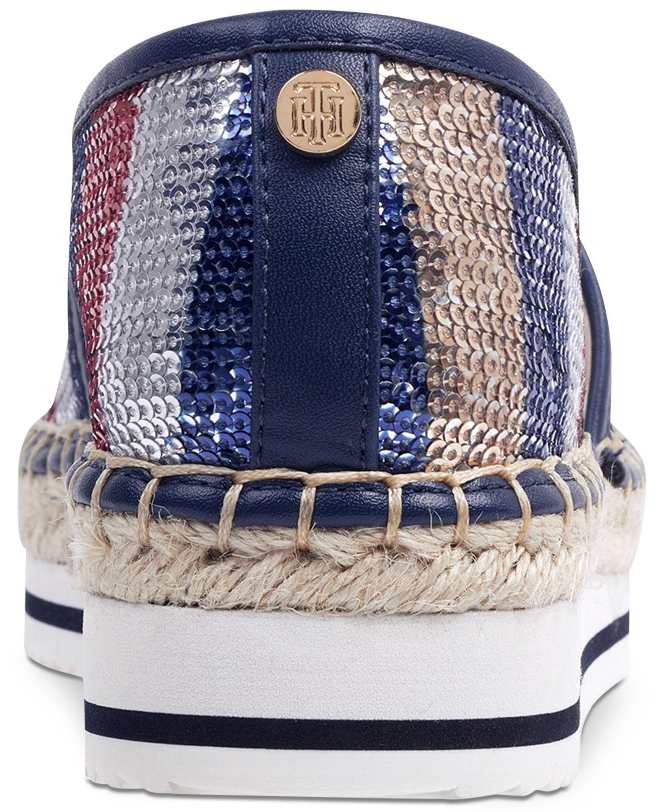 2e5170fe02abfc Lyst - Tommy Hilfiger Carliss Espadrille Flats in Blue